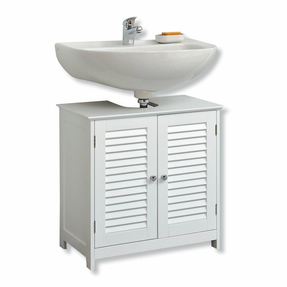 waschbeckenunterschrank wei 60 cm breit online bei. Black Bedroom Furniture Sets. Home Design Ideas