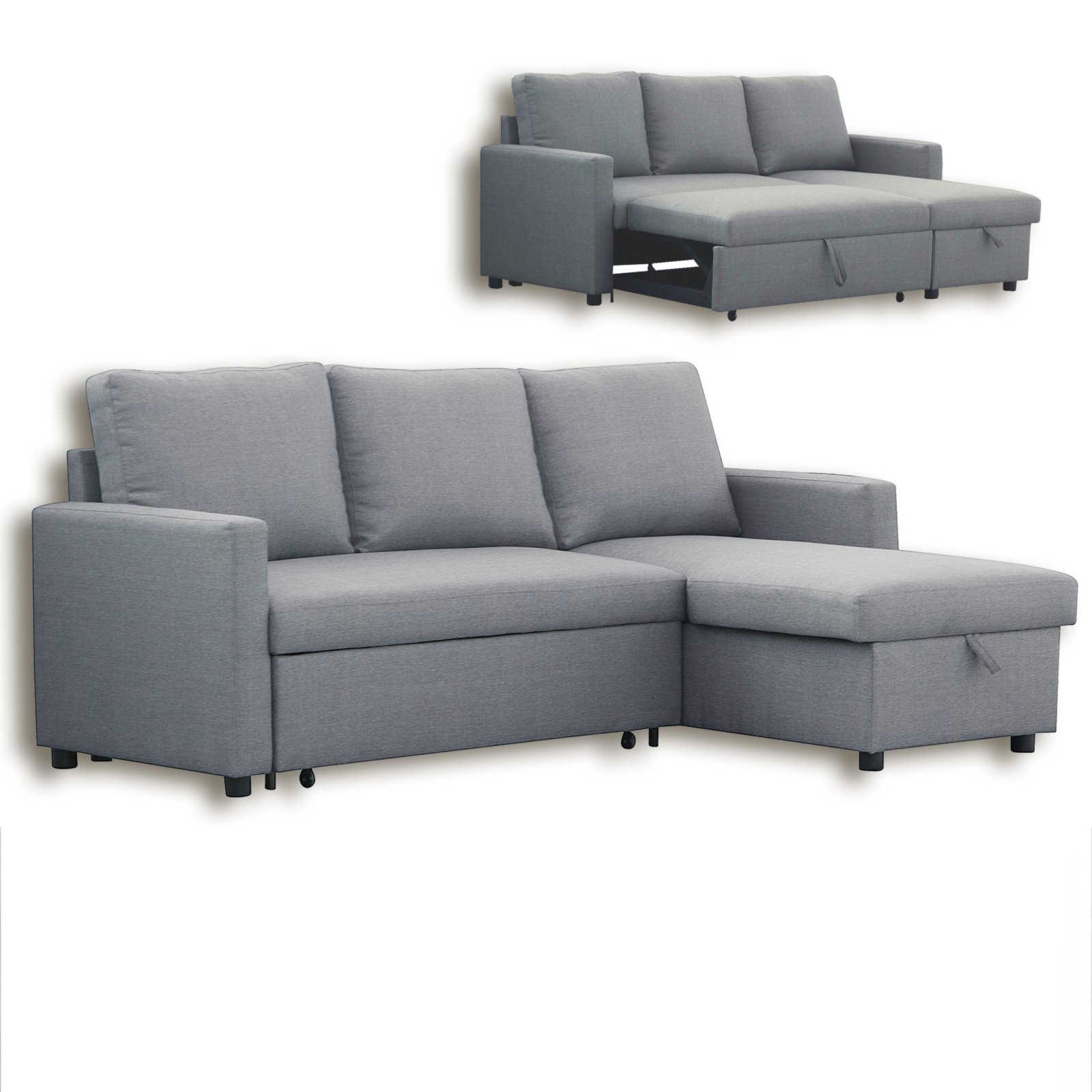 Ecksofa grau liegefunktion ecksofas l form sofas for Sofa l form grau
