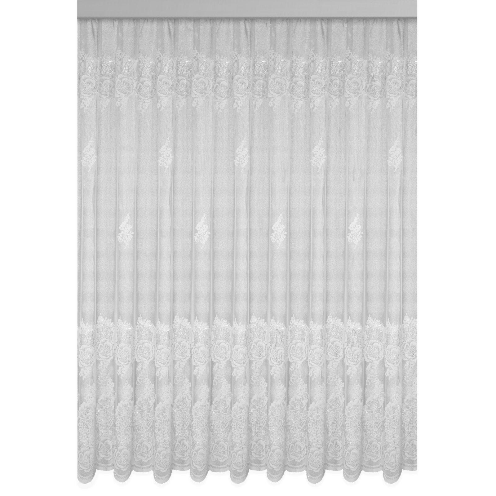 Gardine VERONA - Jaquard-Store - weiß - 450x175 cm