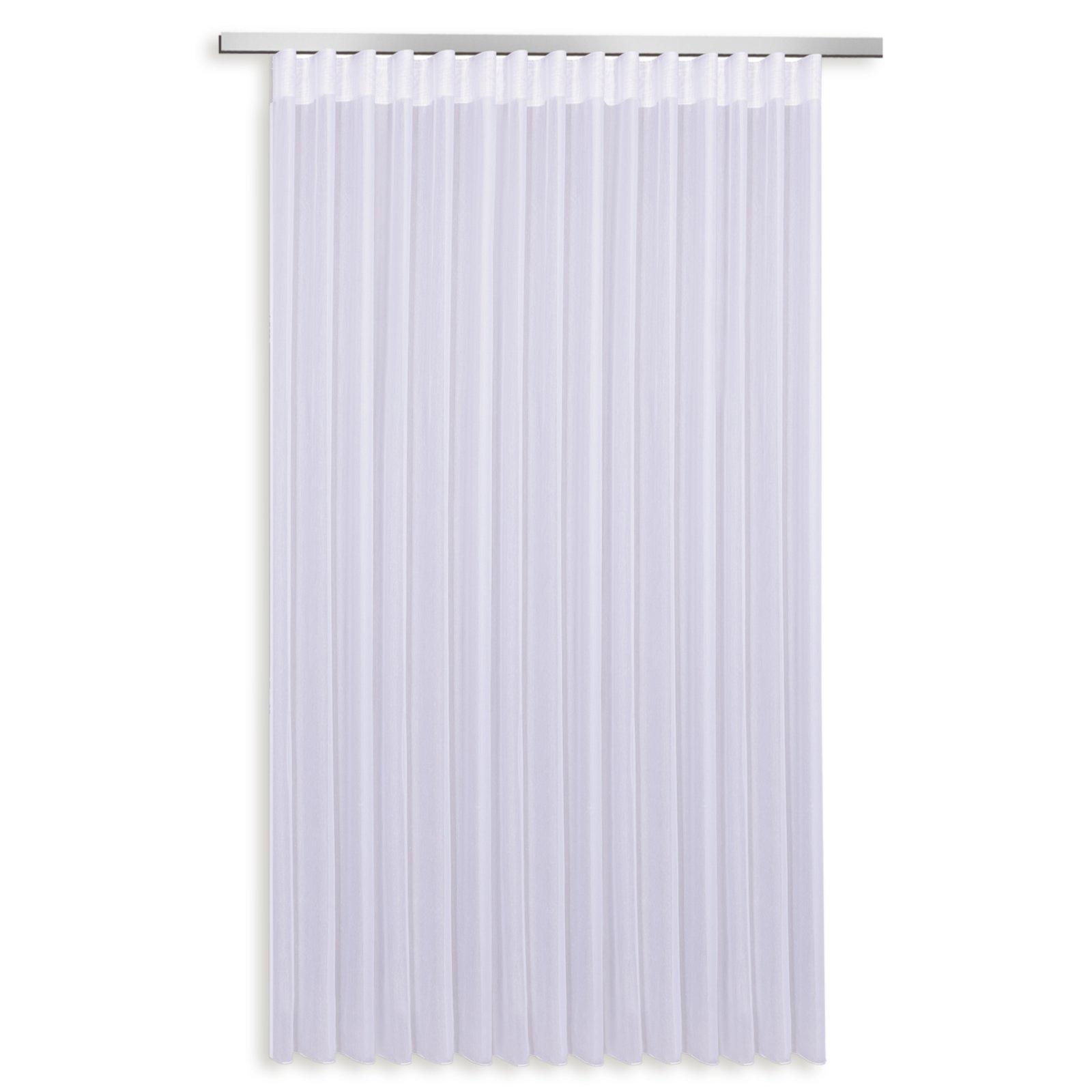 Gardine - weiß - Wellenband - 307x245 cm