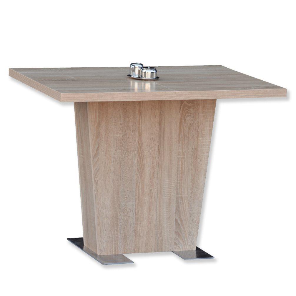 tisch kristin sonoma eiche mit einlegeplatte esstische sitzen essen esszimmer. Black Bedroom Furniture Sets. Home Design Ideas