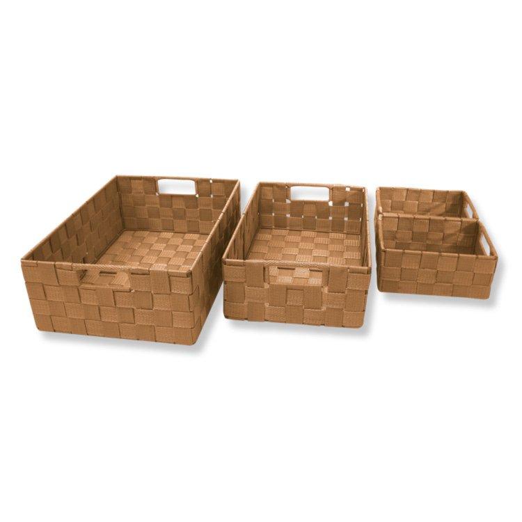 4er set aufbewahrungsk rbe brown braun dekorative boxen k rbe boxen k rbe deko. Black Bedroom Furniture Sets. Home Design Ideas