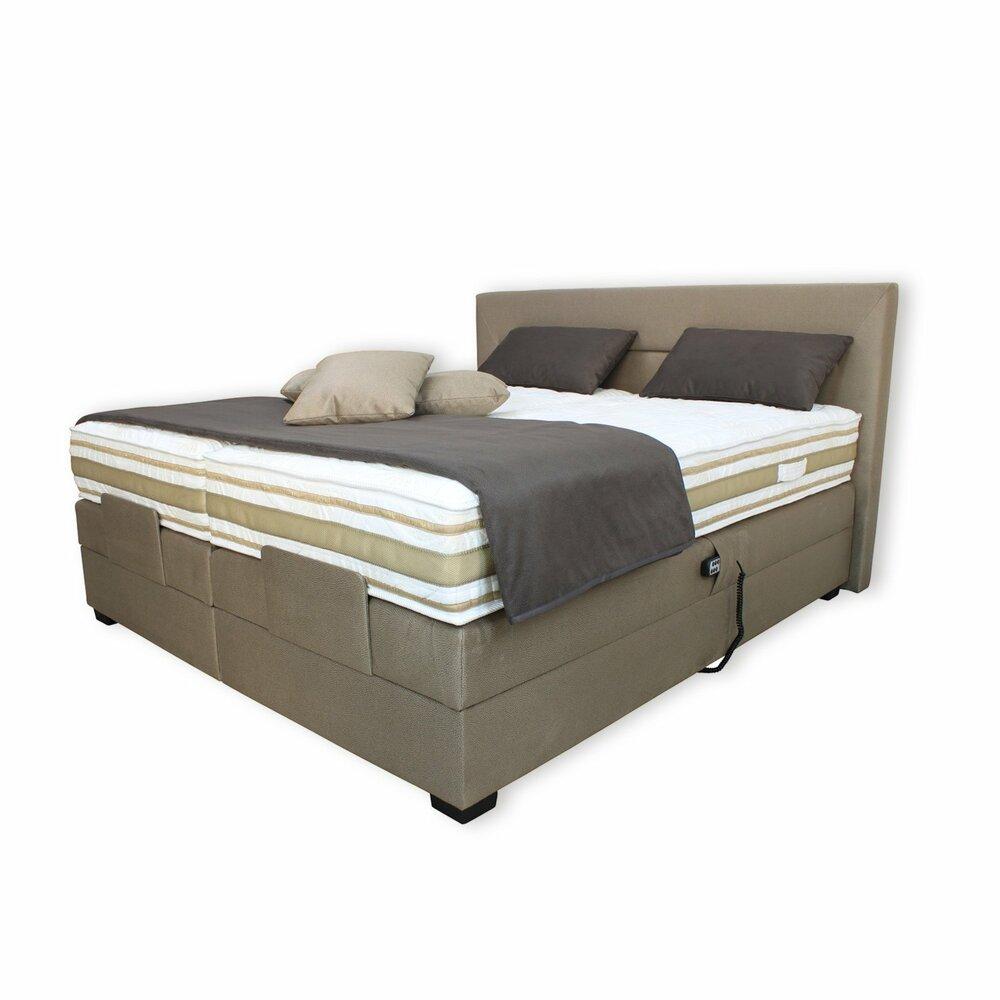 boxspringbett dunkelbeige mit motor 180x200 cm aktion. Black Bedroom Furniture Sets. Home Design Ideas