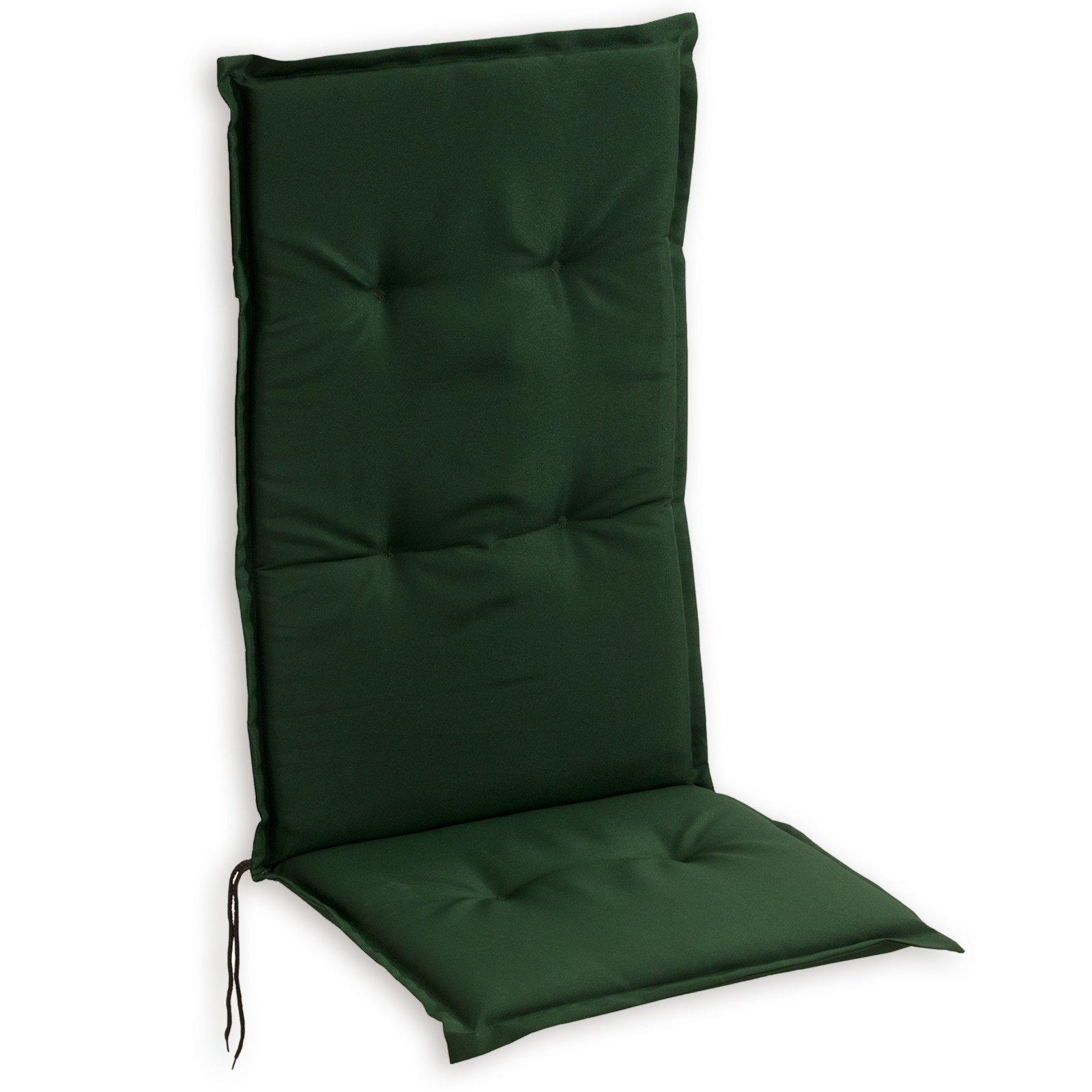 sitzauflage hochlehner woody gr n 48x115 cm auflagen f r gartenm bel garten balkon. Black Bedroom Furniture Sets. Home Design Ideas