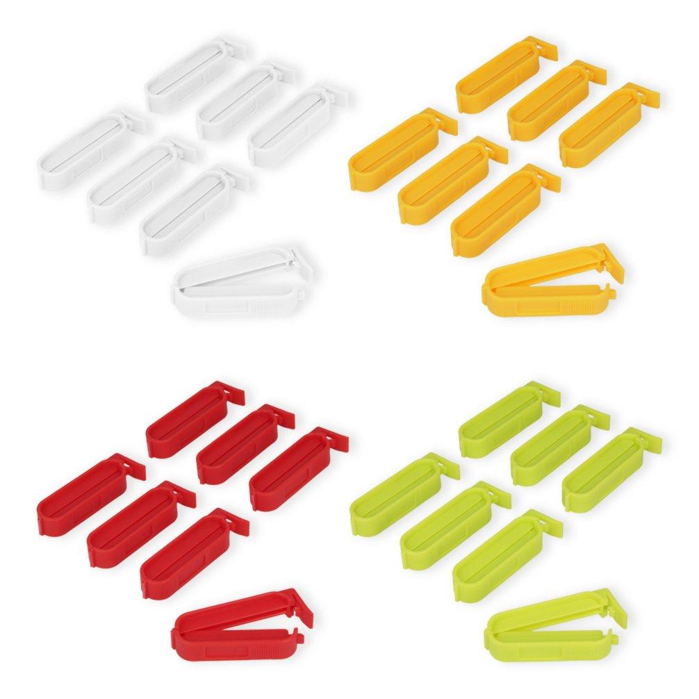 7 Verschlussklammern - verschiedene Farben - 6 cm