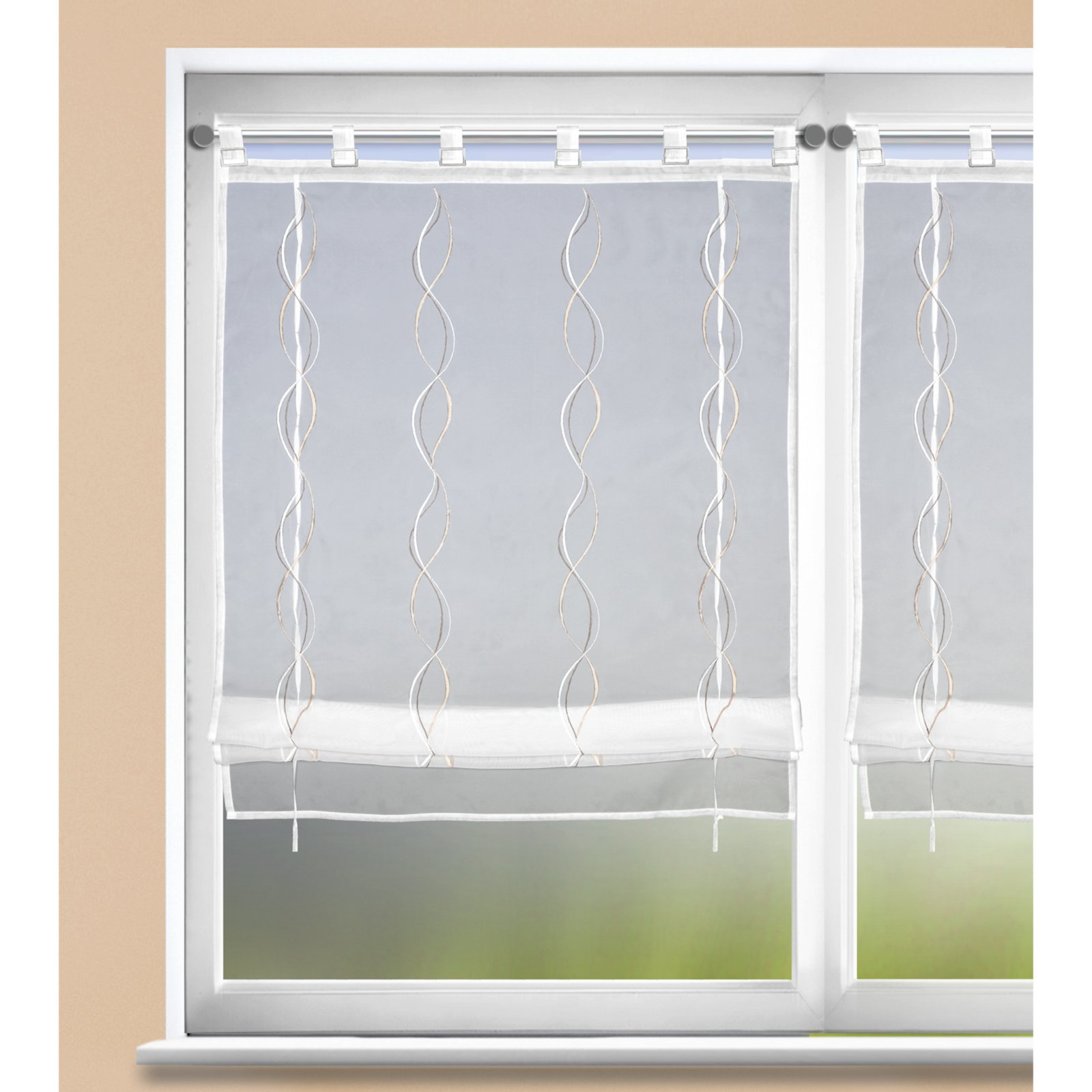 Raffrollo - weiß-beige - 80x140 cm | Online bei ROLLER günstig kaufen!