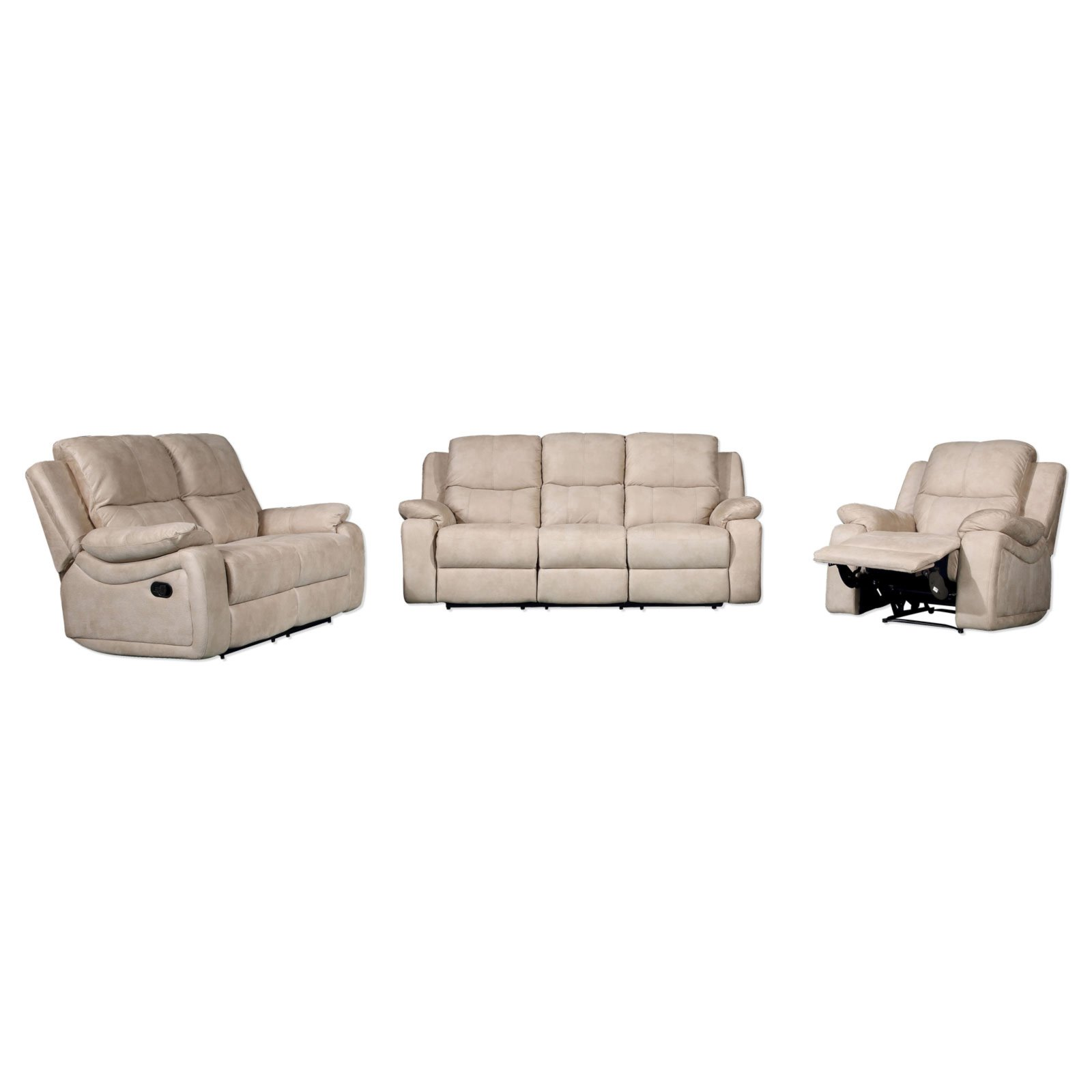 3 teilige polstergarnitur beige relaxfunktion sofagarnituren sets sofas couches. Black Bedroom Furniture Sets. Home Design Ideas