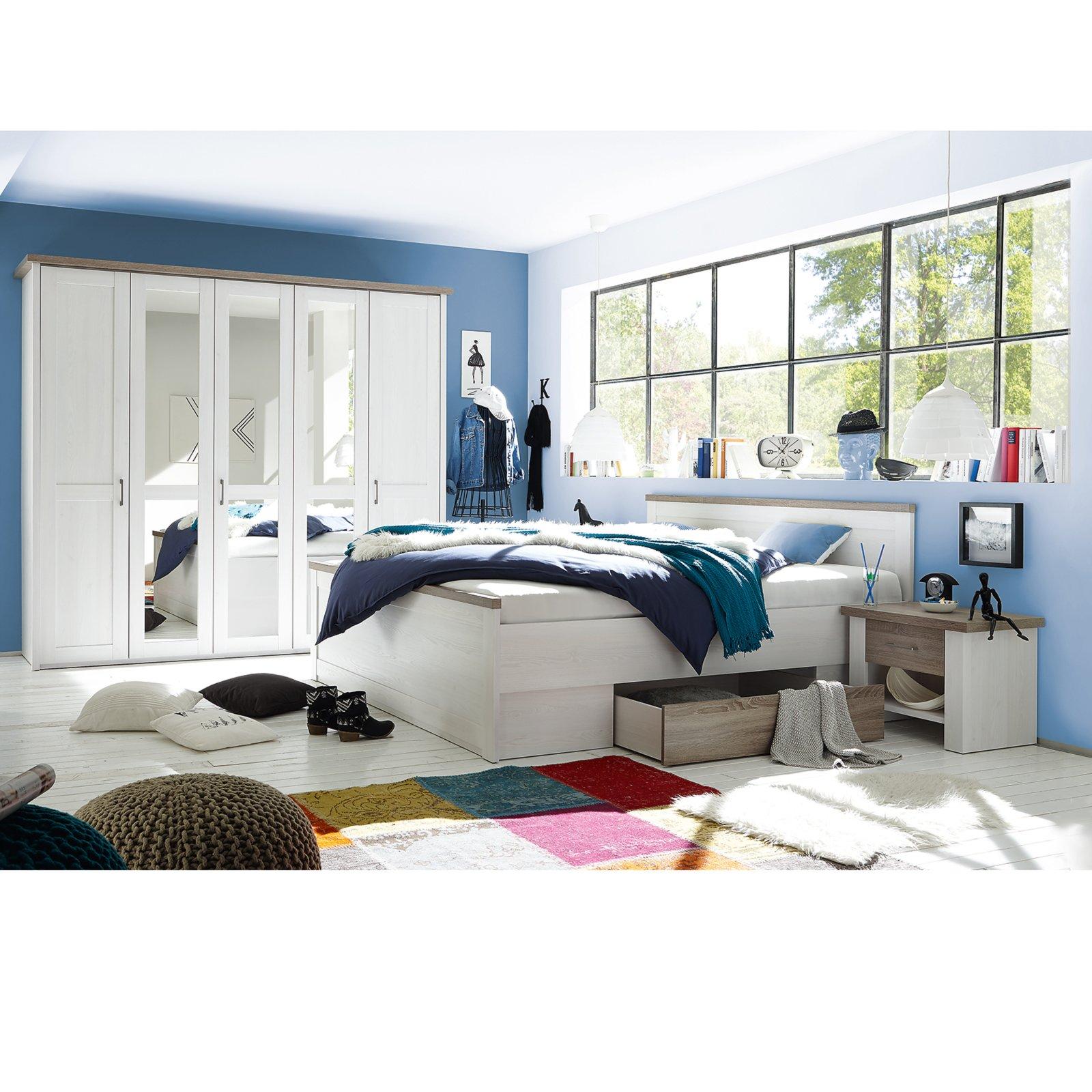 4-teiliges Schlafzimmer-Set LUCA - Pinie-weiß - Trüffel | Online bei ...