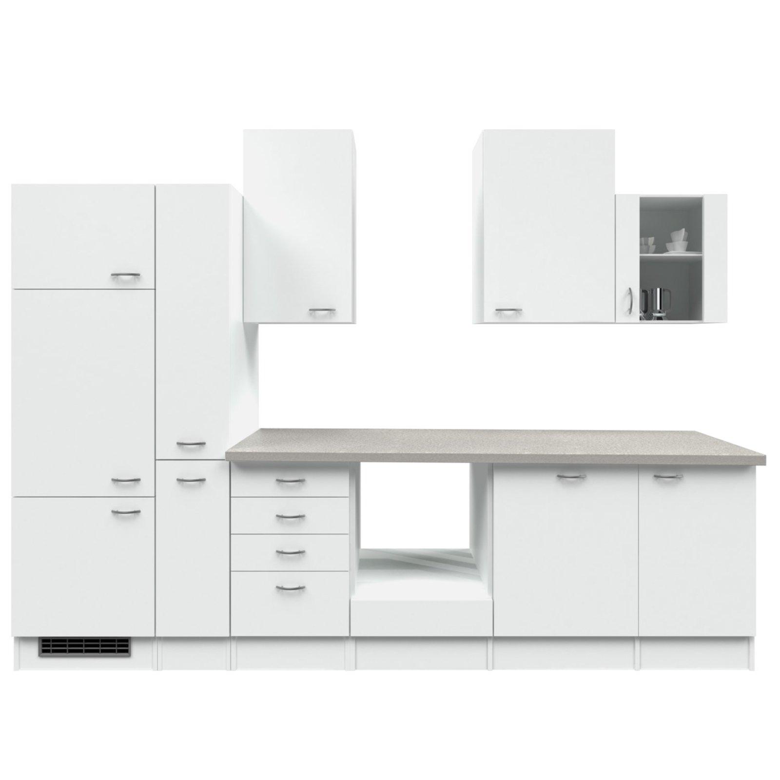 Küchenblock WITO - weiß-grau - 310 cm
