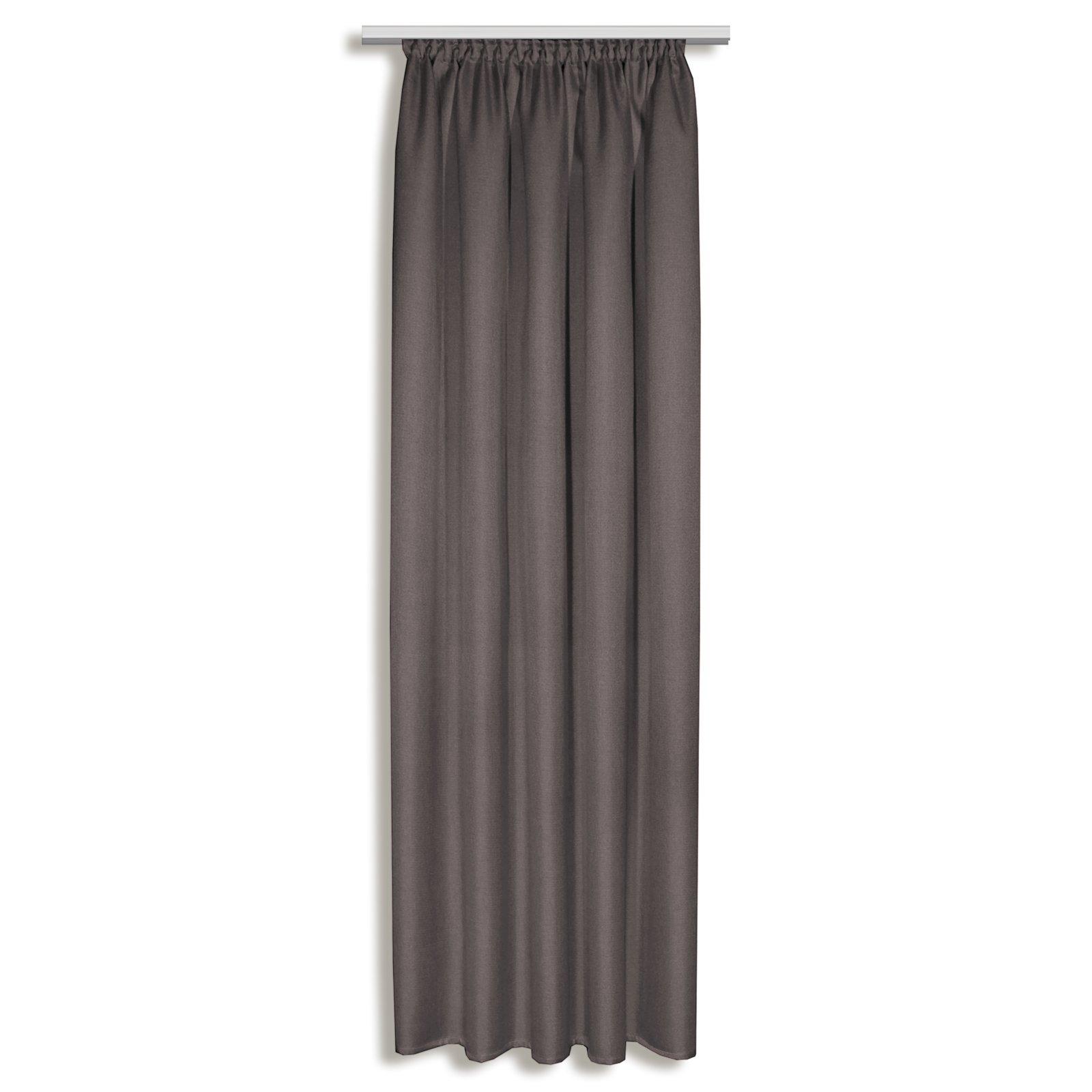 vorhang selma taupe 135x245 cm blickdichte gardinen. Black Bedroom Furniture Sets. Home Design Ideas