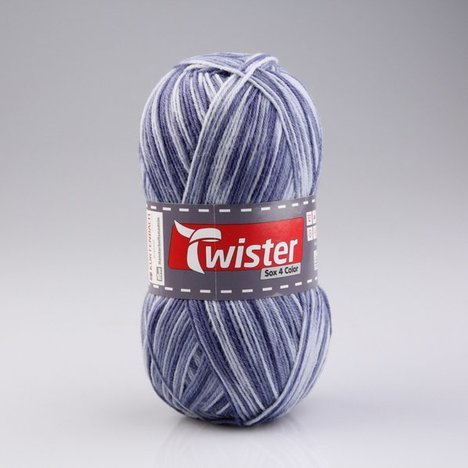 Wolle TWISTER SOX COLOR - jeans multi - 100g