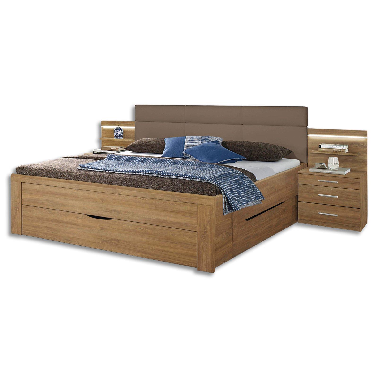 bettanlage karlsruhe eiche riviera nachbildung 180x200 cm bettgestelle betten m bel. Black Bedroom Furniture Sets. Home Design Ideas