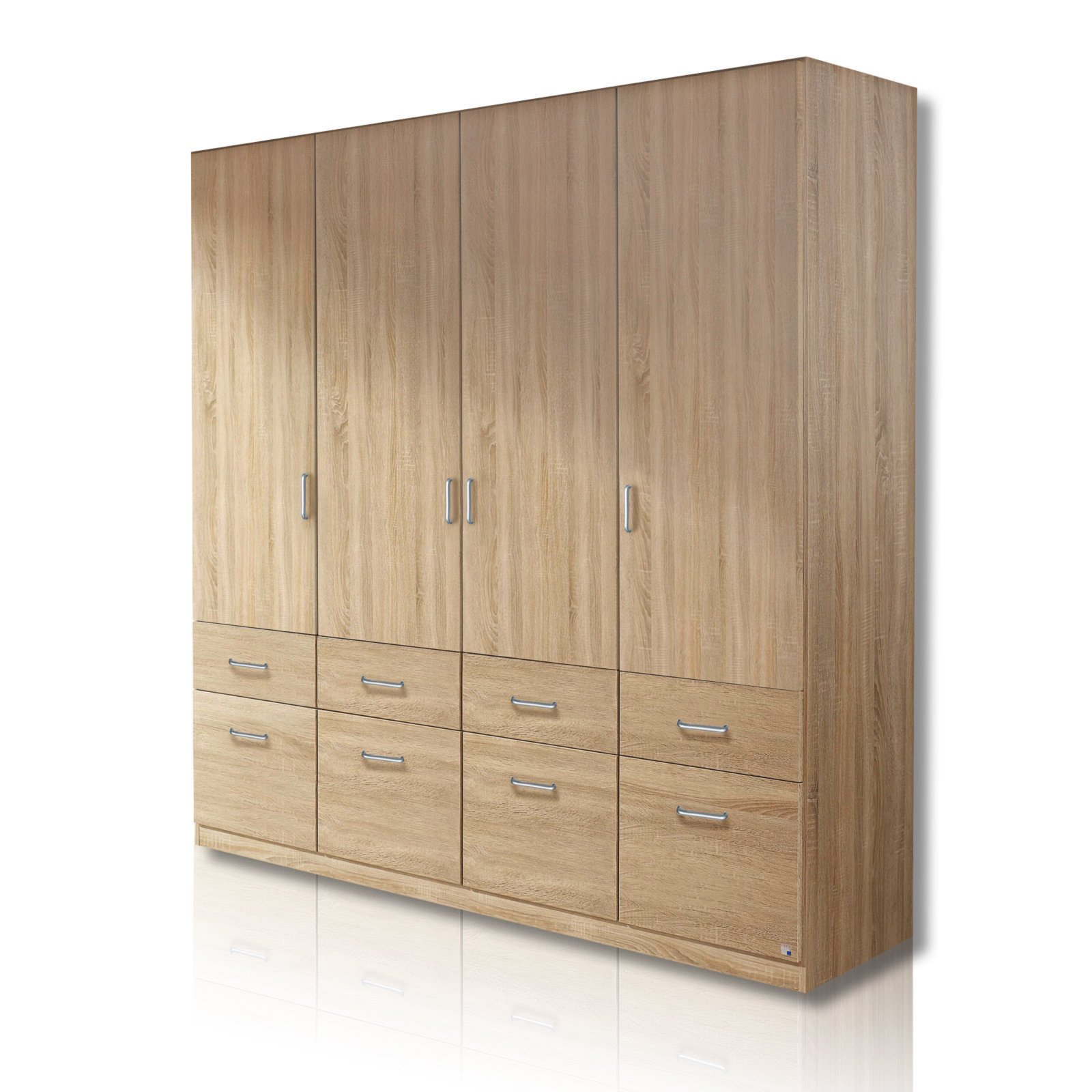 roller kleiderschrank aalen sonoma eiche 181 cm breit ebay. Black Bedroom Furniture Sets. Home Design Ideas
