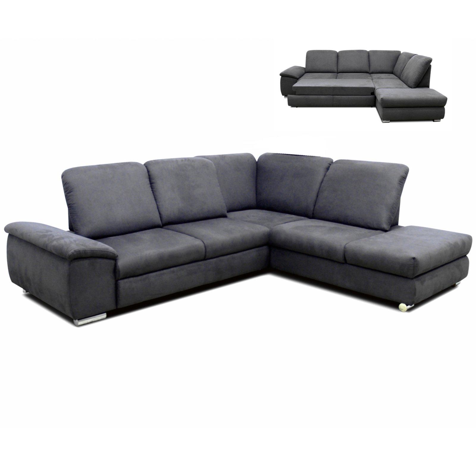 polsterecke grau sitztiefenverstellung liegefunktion. Black Bedroom Furniture Sets. Home Design Ideas
