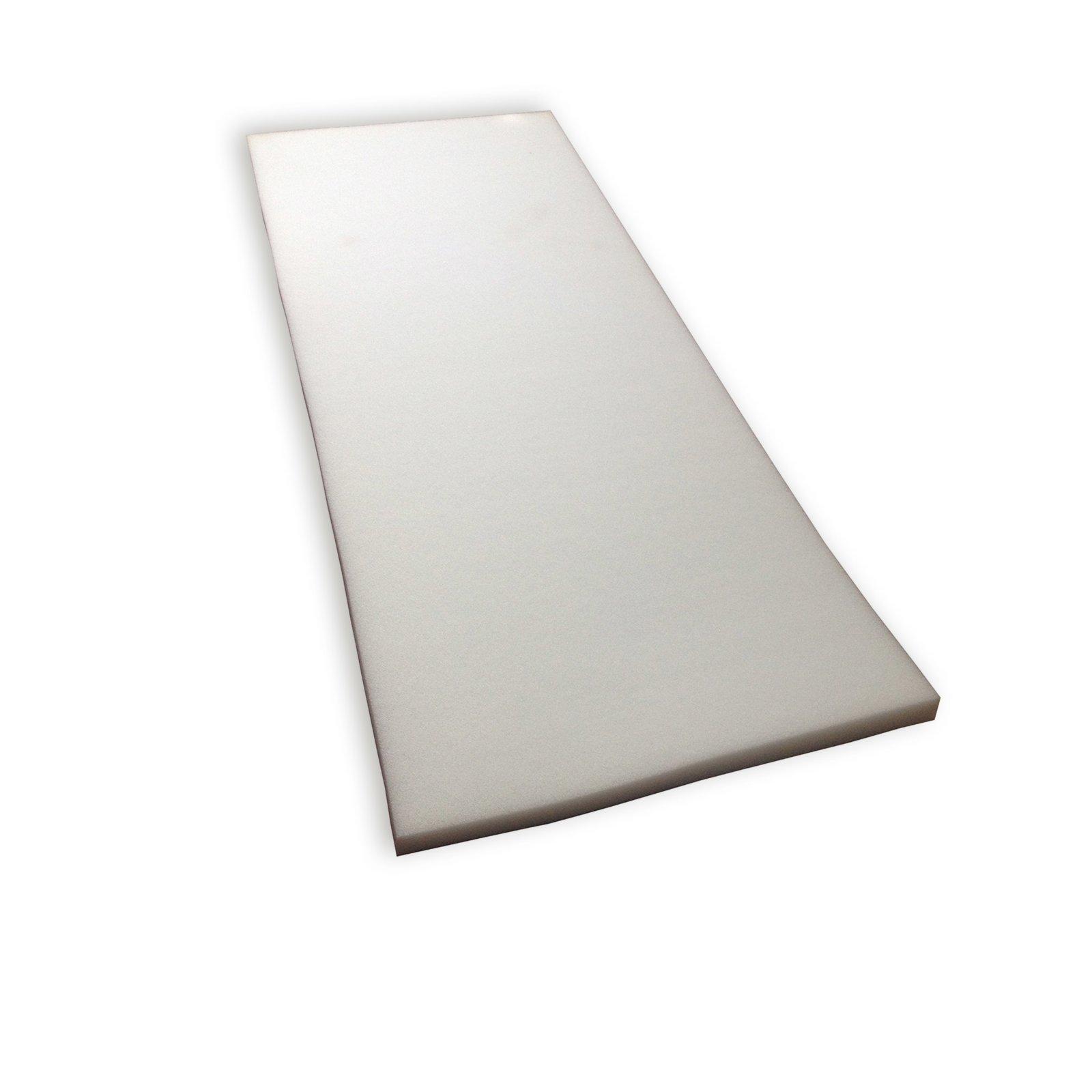 schaumstoff zuschnitt wei 40x100 cm stuhl sitzkissen kissen deko haushalt. Black Bedroom Furniture Sets. Home Design Ideas