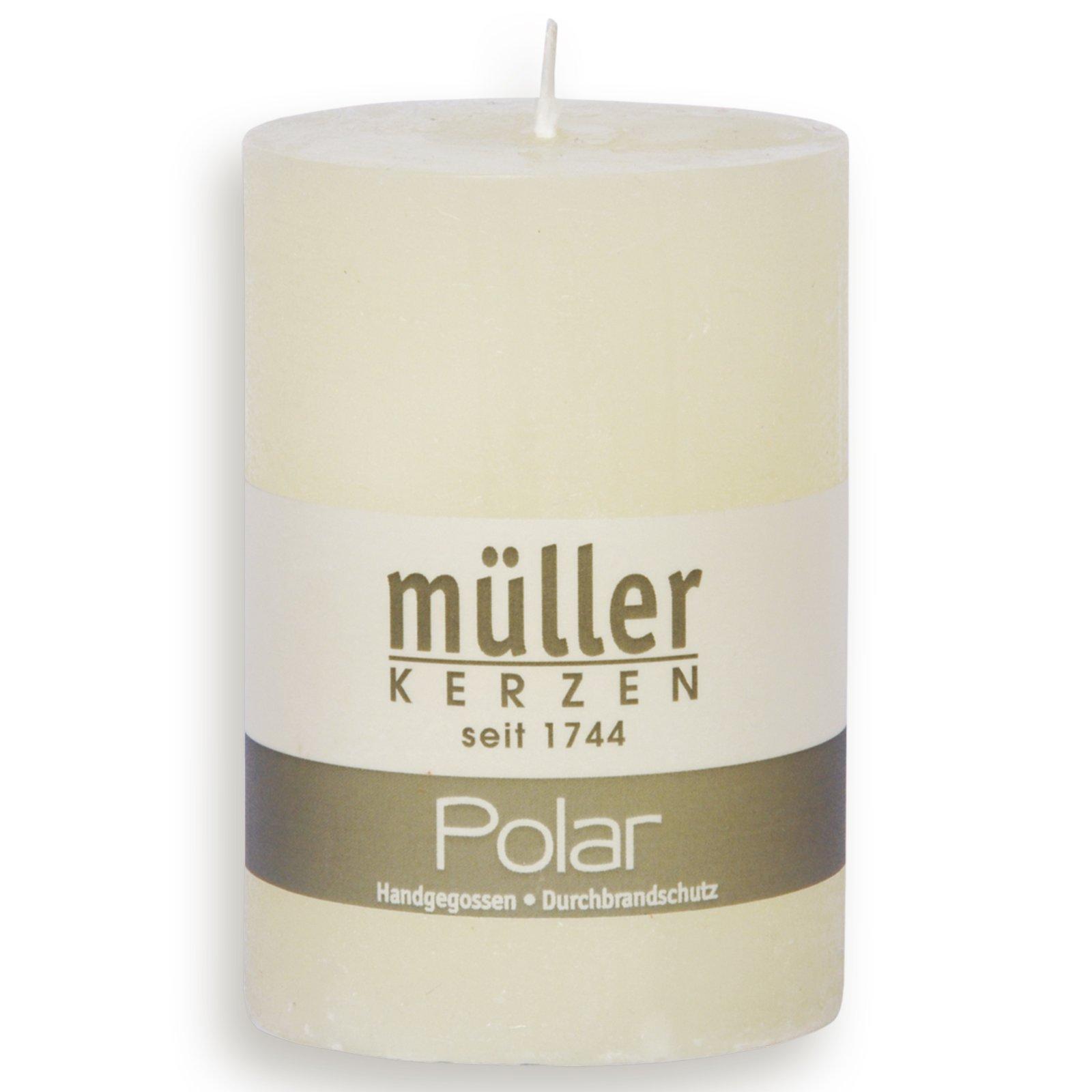 Stumpenkerze POLAR - vanille - 10 cm