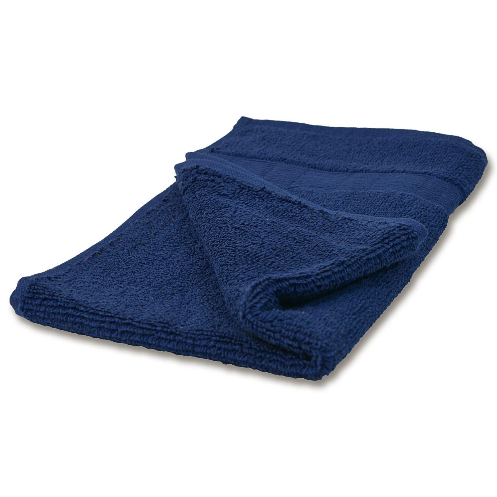 Gästehandtuch CAESAR - blau - Baumwolle - 30x50 cm