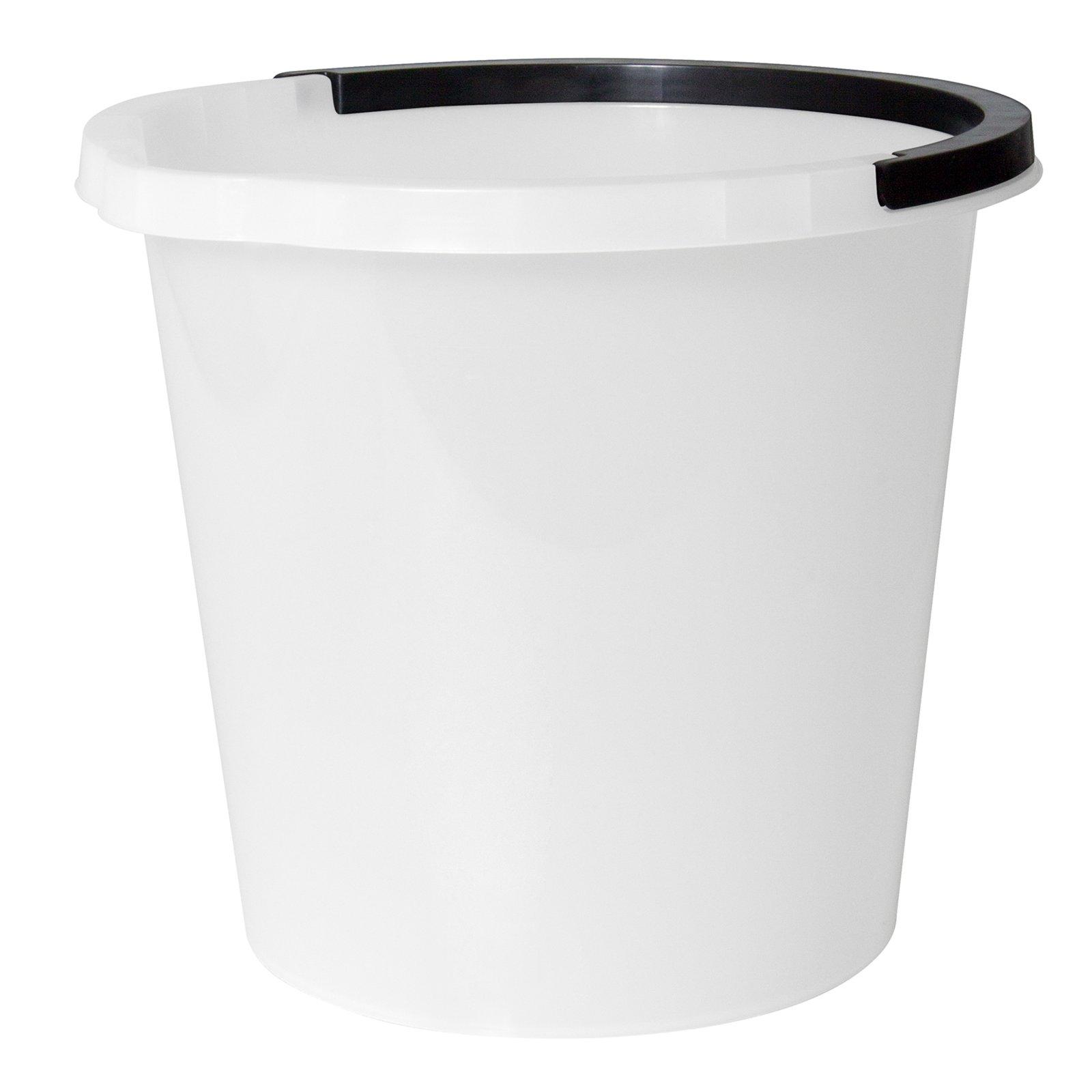 eimer mit ausgusslippe wei 10 liter mop bodenwischer reinigen hauswirtschaft keller. Black Bedroom Furniture Sets. Home Design Ideas