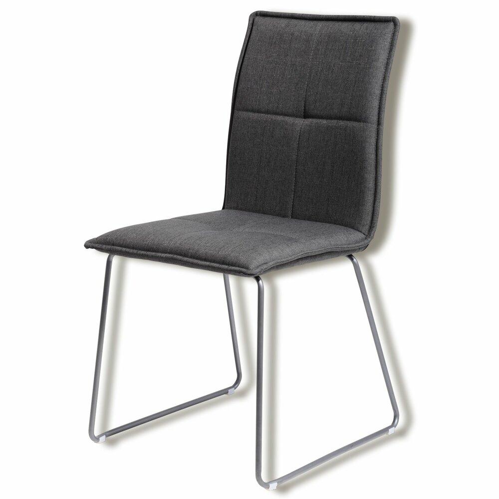 kufenstuhl luana s anthrazit webstoff polsterst hle. Black Bedroom Furniture Sets. Home Design Ideas