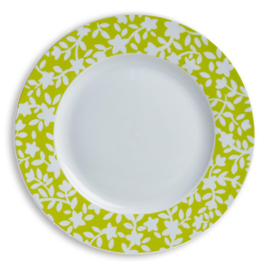 Dessertteller FIORE - weiß-grün - 20,5 cm