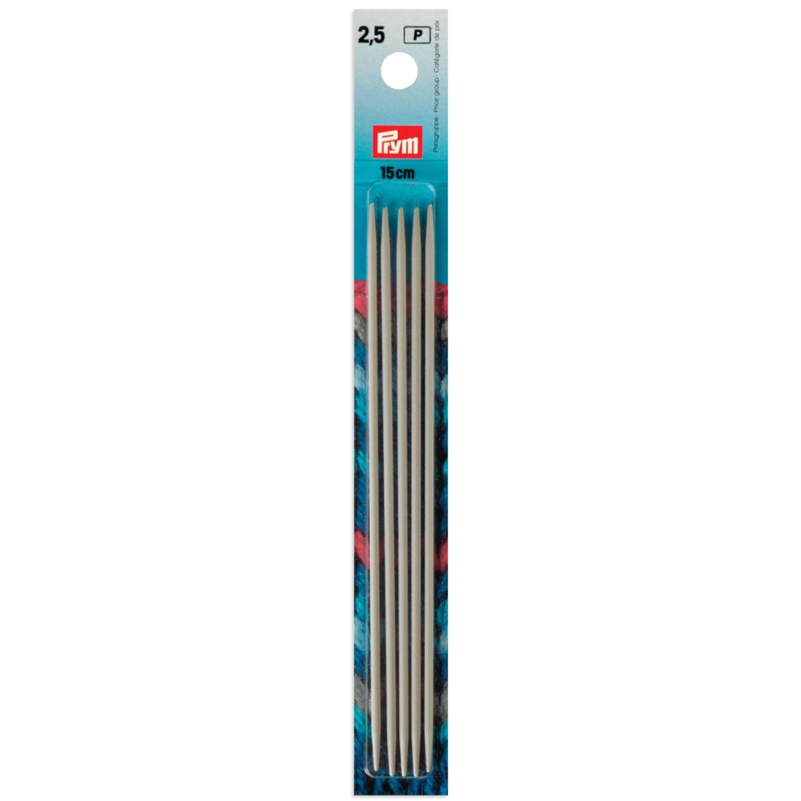 Strumpfstricknadel - 4 Stück - 0,25 cm