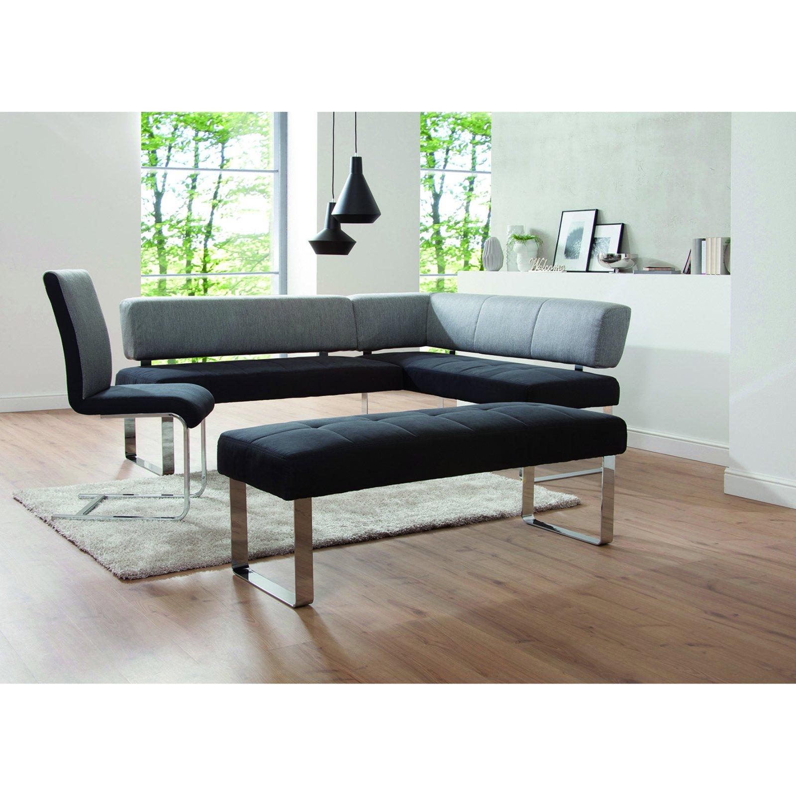 roller eckbank schwarz grau microfaser ebay. Black Bedroom Furniture Sets. Home Design Ideas