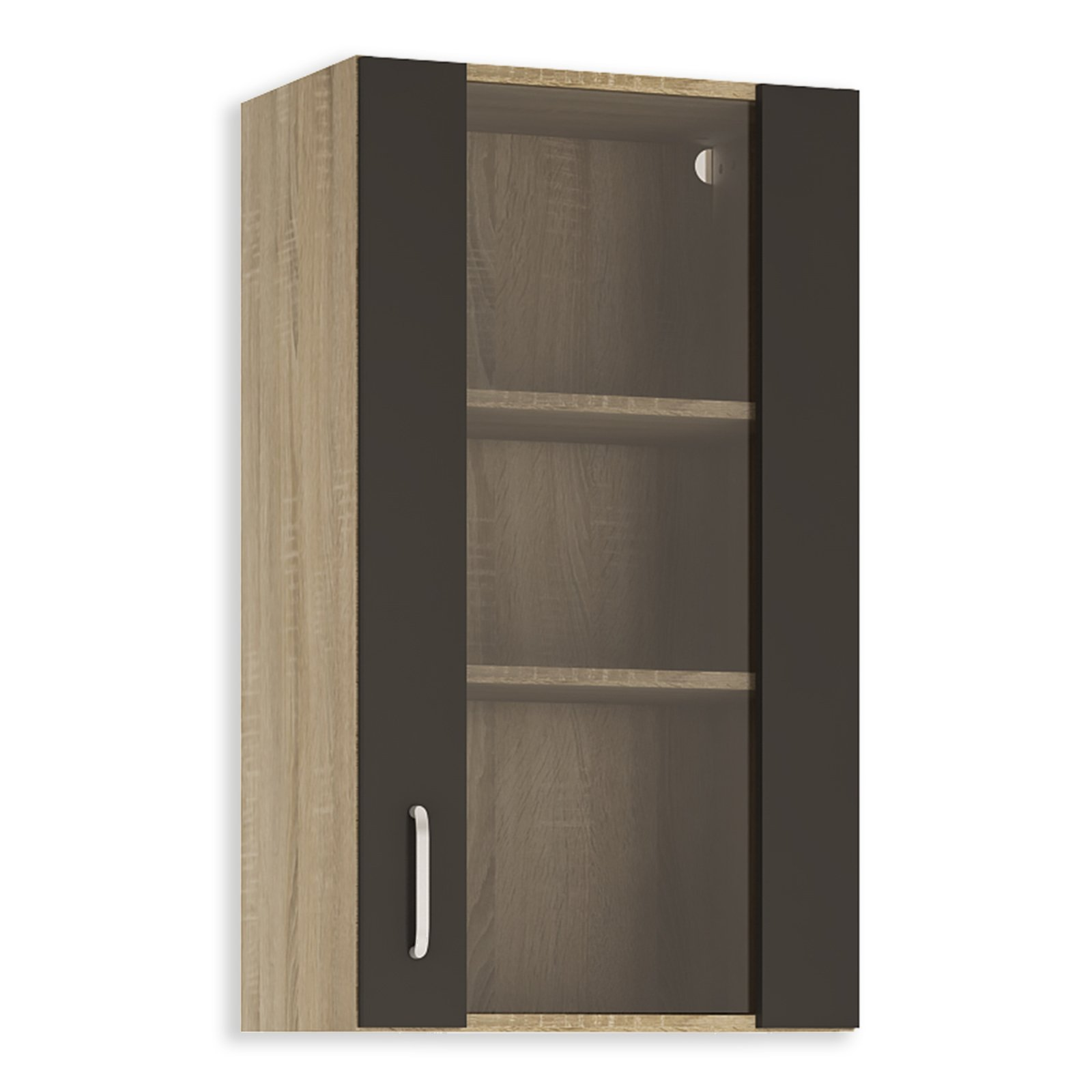 glash ngeschrank fox anthrazit sonoma eiche 50 cm breit h ngeschr nke einzelschr nke. Black Bedroom Furniture Sets. Home Design Ideas
