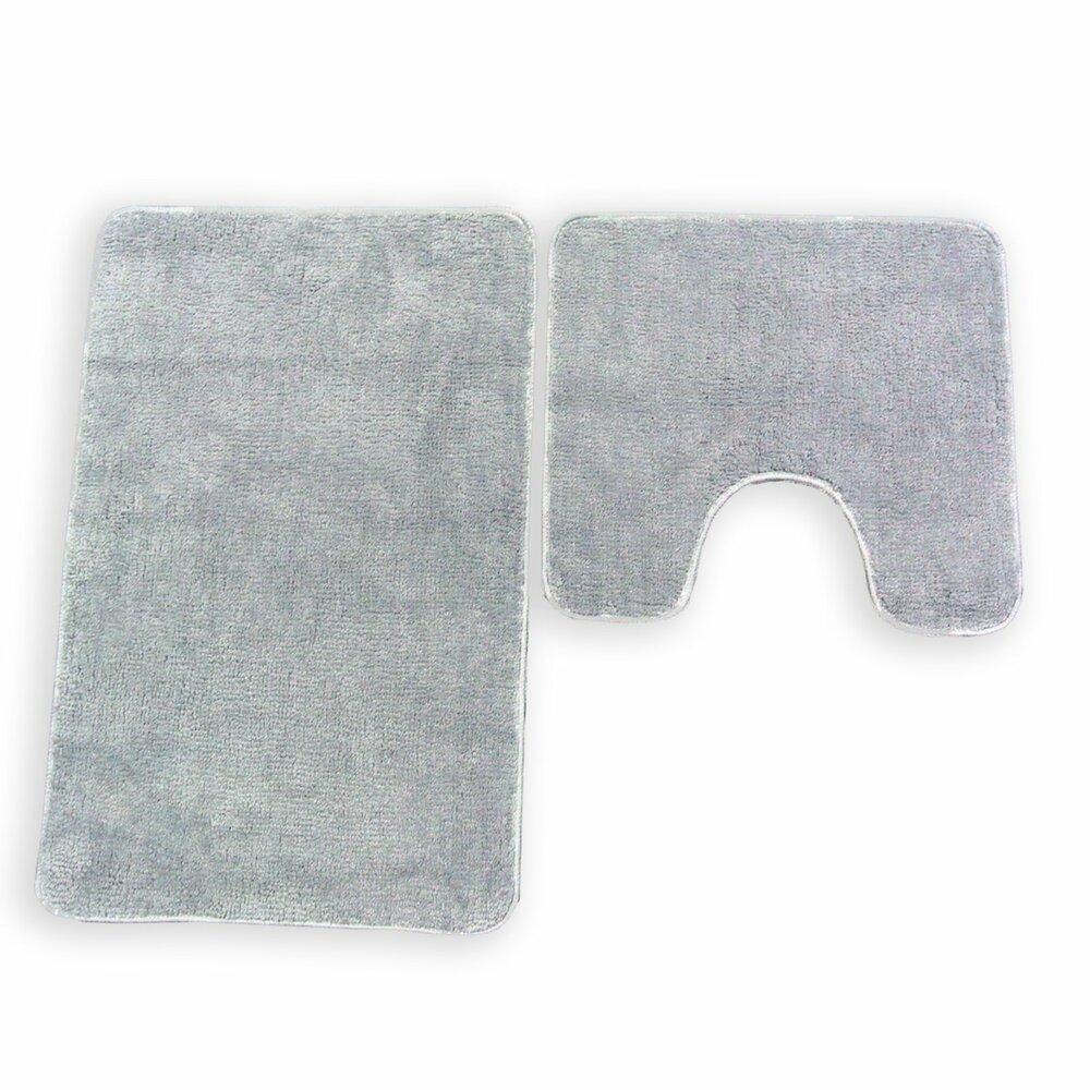 badgarnitur katy grau 2 teilig mit ausschnitt badteppiche matten badtextilien. Black Bedroom Furniture Sets. Home Design Ideas