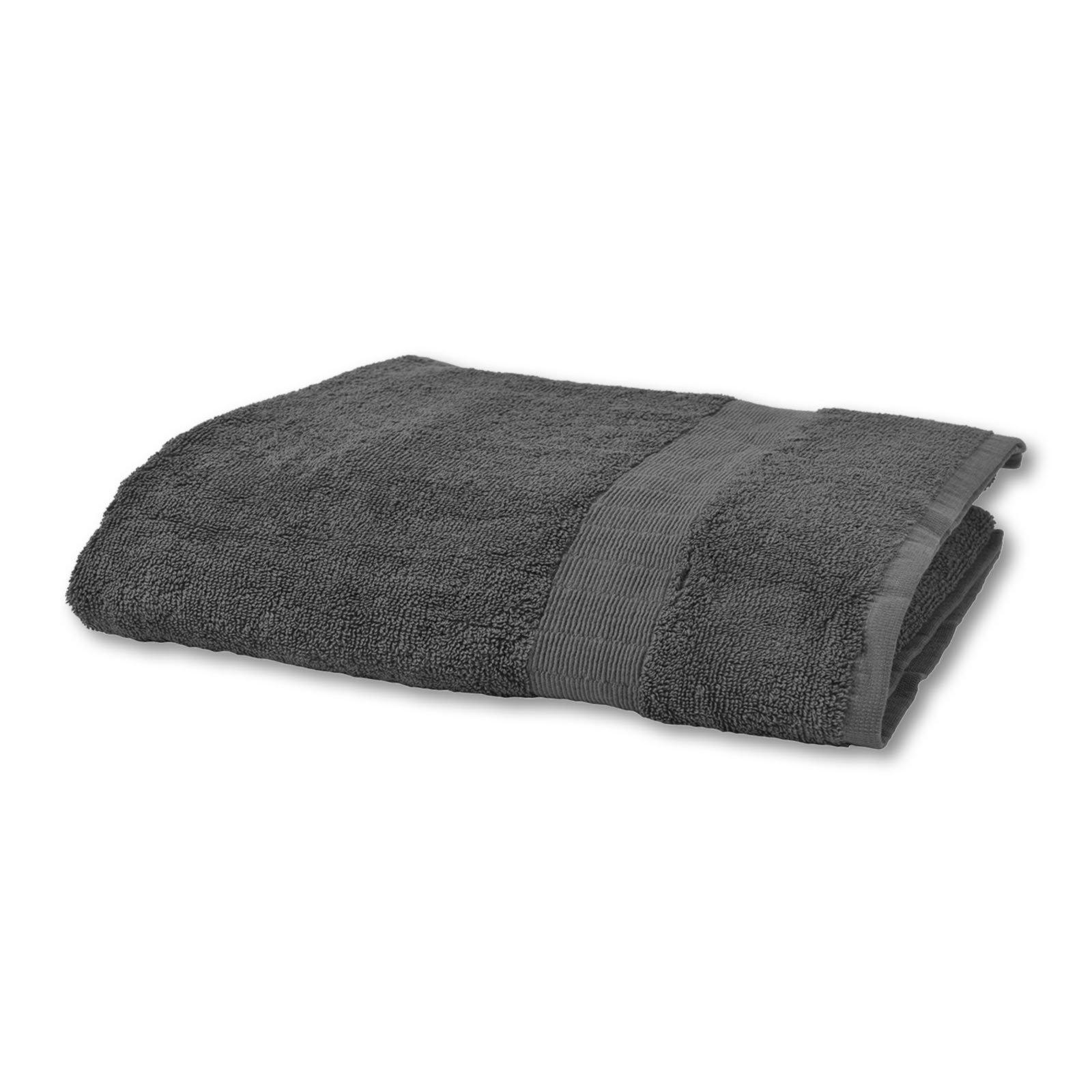 Handtuch CAESAR - grau - Baumwolle - 50x100 cm