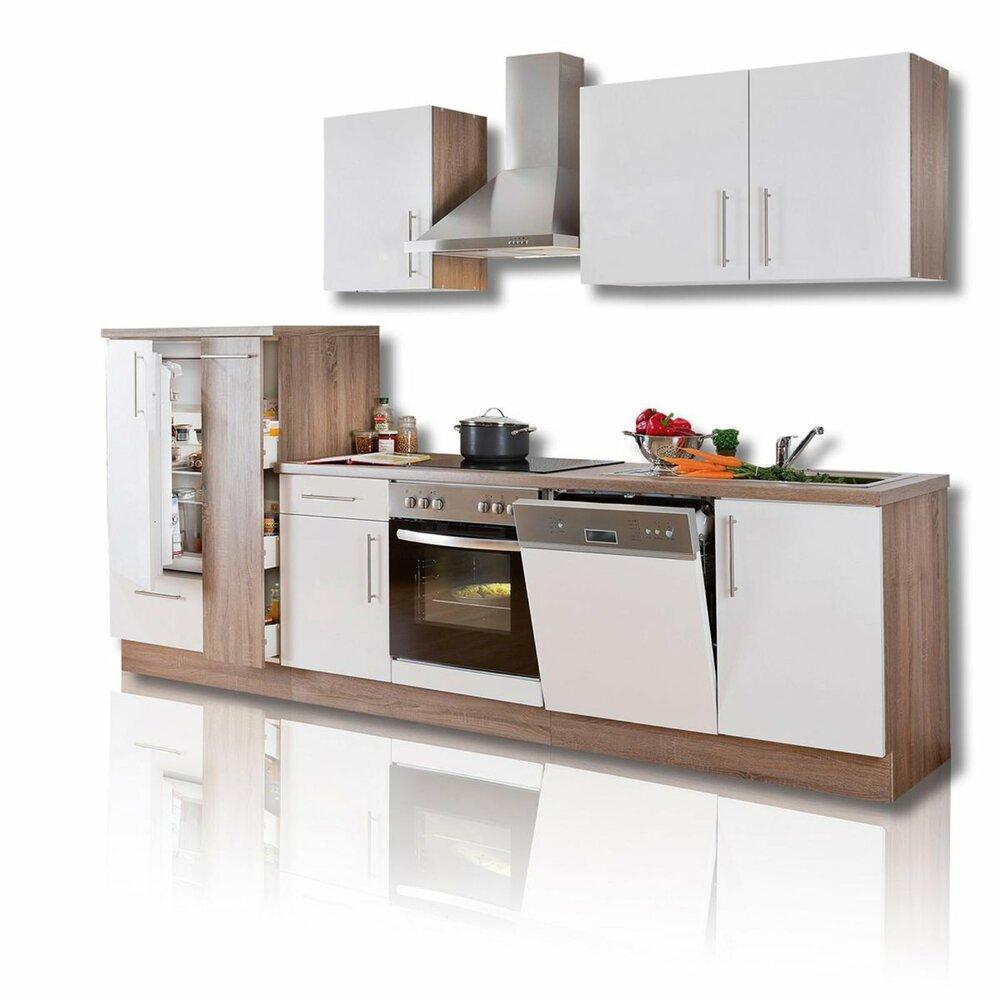Roller küchenblock  Küchenblock JULIA - weiß Hochglanz - inklusive E-Geräte ...