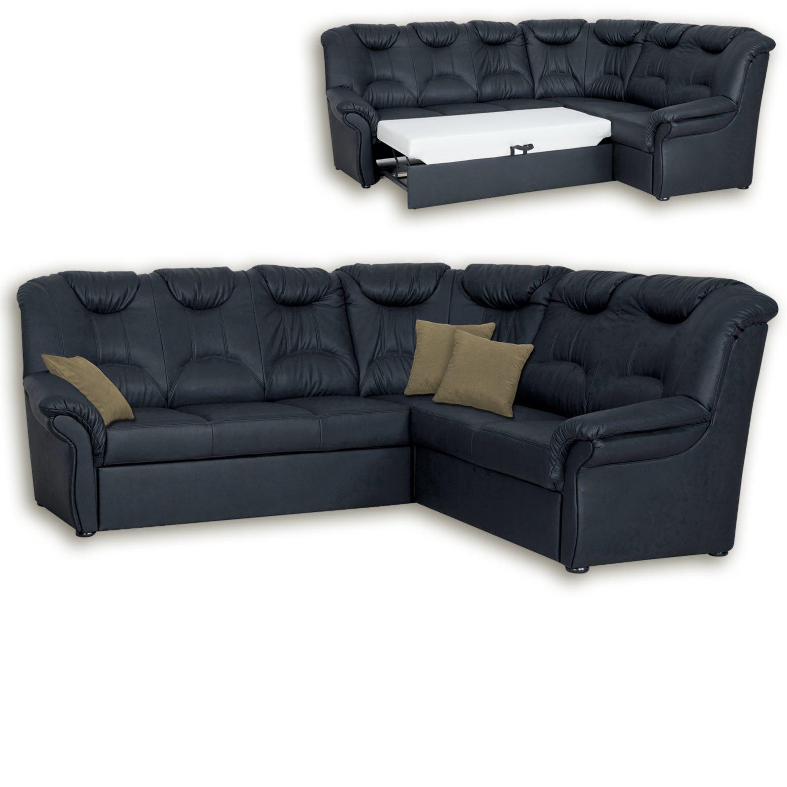 ecksofa schwarz kunstleder mit funktionen ecksofas l form sofas couches m bel. Black Bedroom Furniture Sets. Home Design Ideas