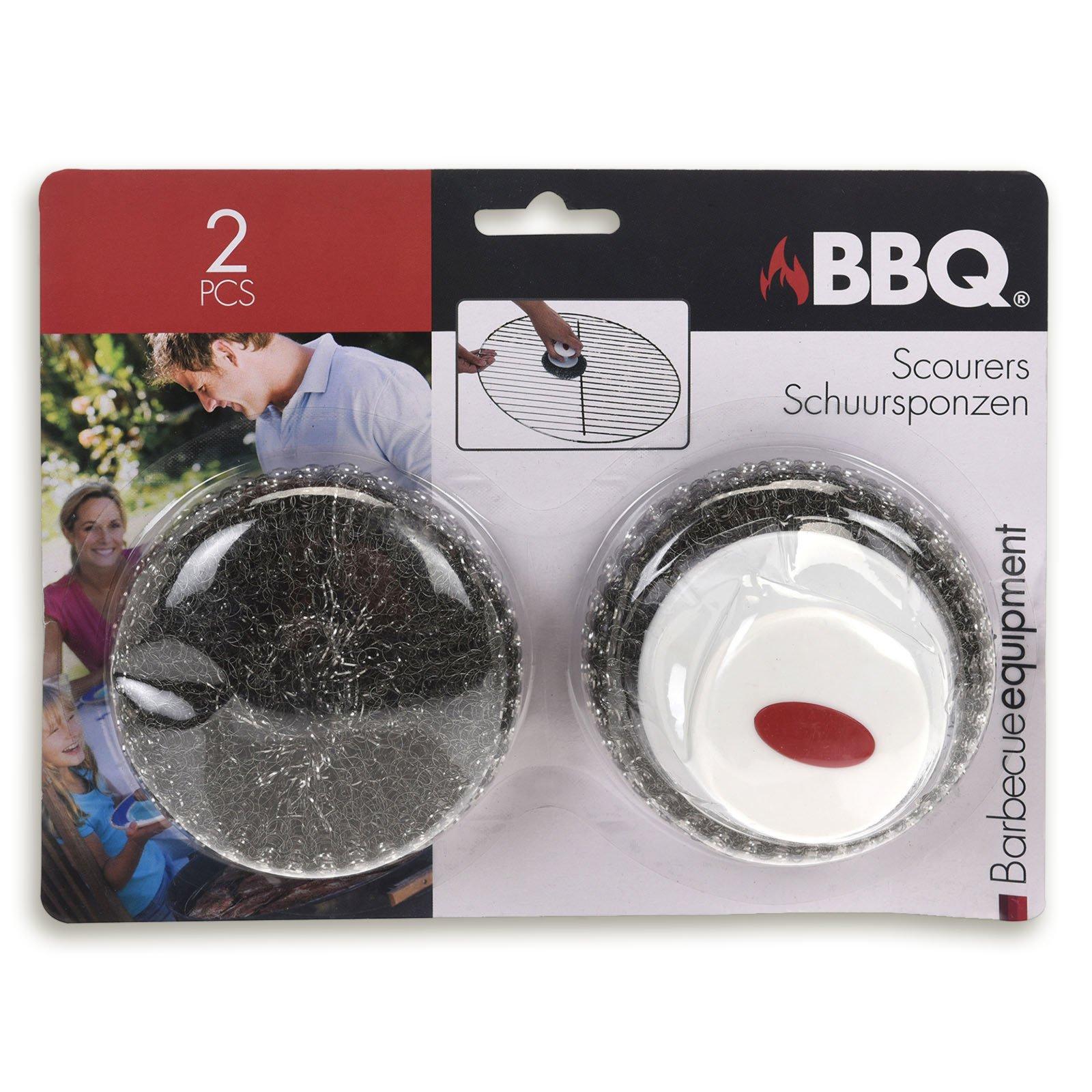 2er-Set Barbecue-Topfkratzer - mit Griff