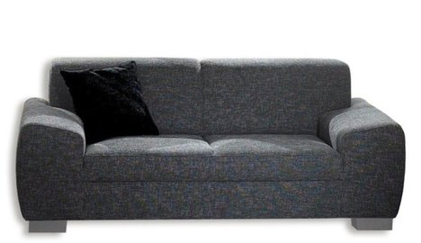 2 sitzer sofa dunkelgrau mit federkernangebot bei. Black Bedroom Furniture Sets. Home Design Ideas