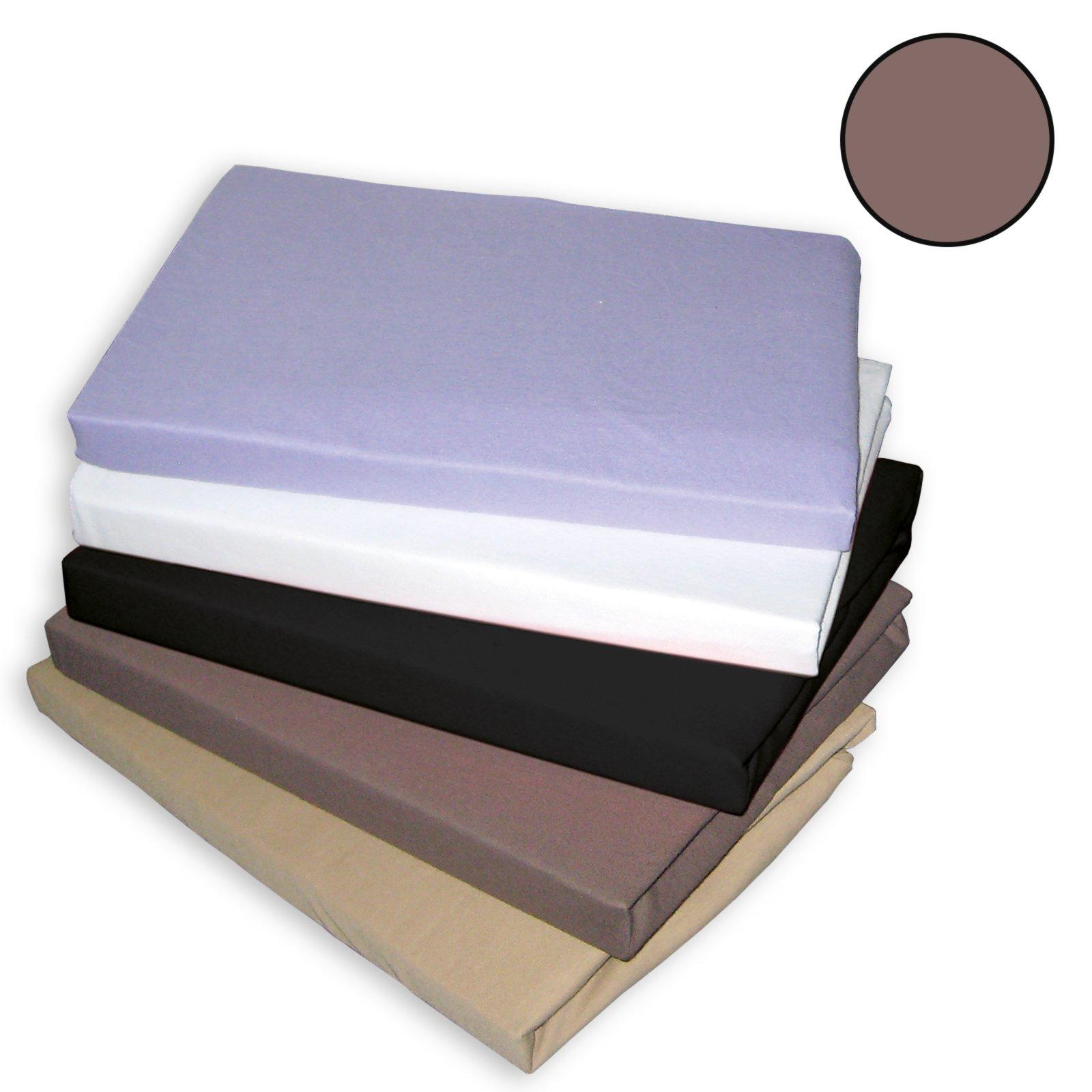 topper spannbettlaken traumhaft gut braun 100x200 cm. Black Bedroom Furniture Sets. Home Design Ideas