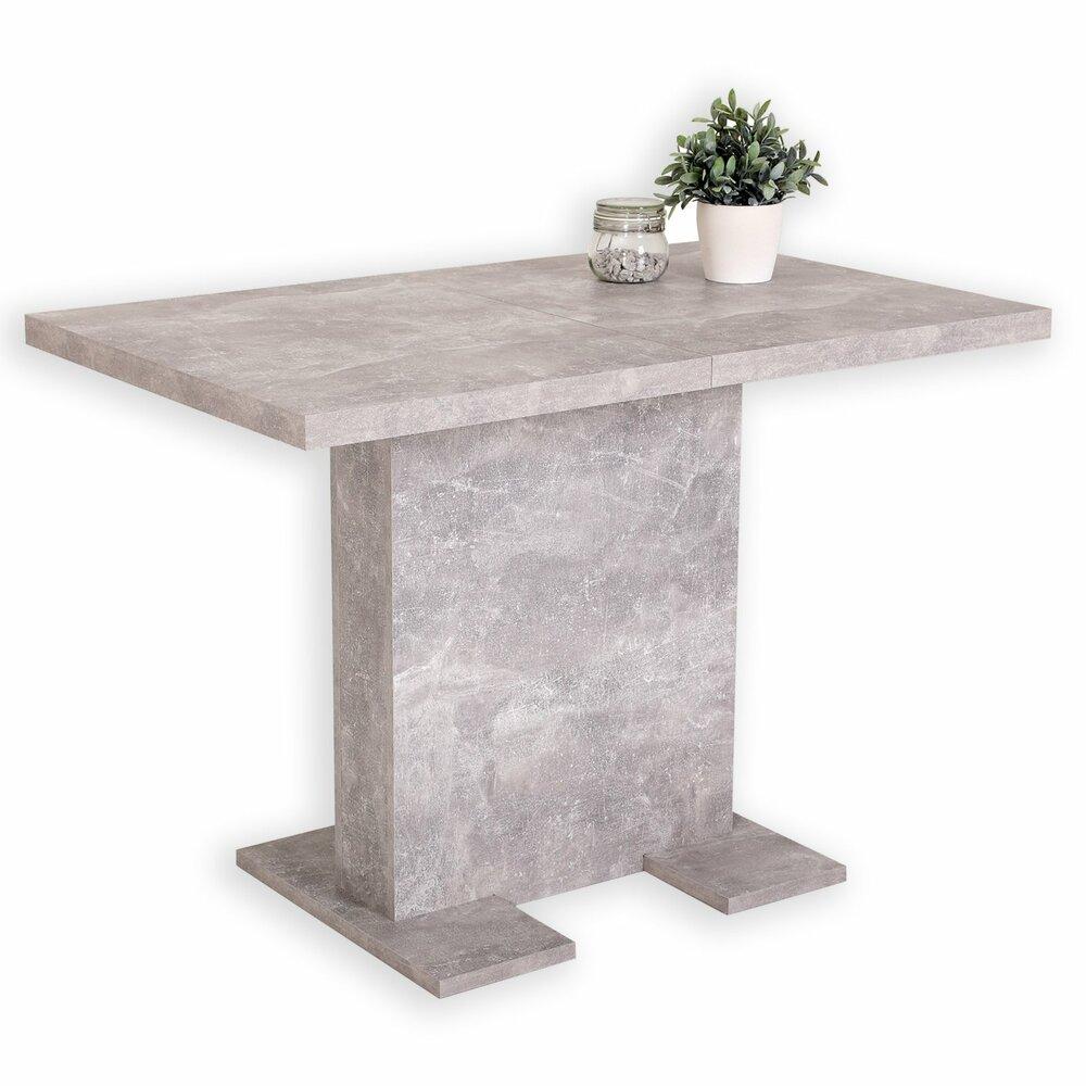 esstisch britt betonoptik ausziehbar esstische sitzen essen esszimmer wohnbereiche. Black Bedroom Furniture Sets. Home Design Ideas