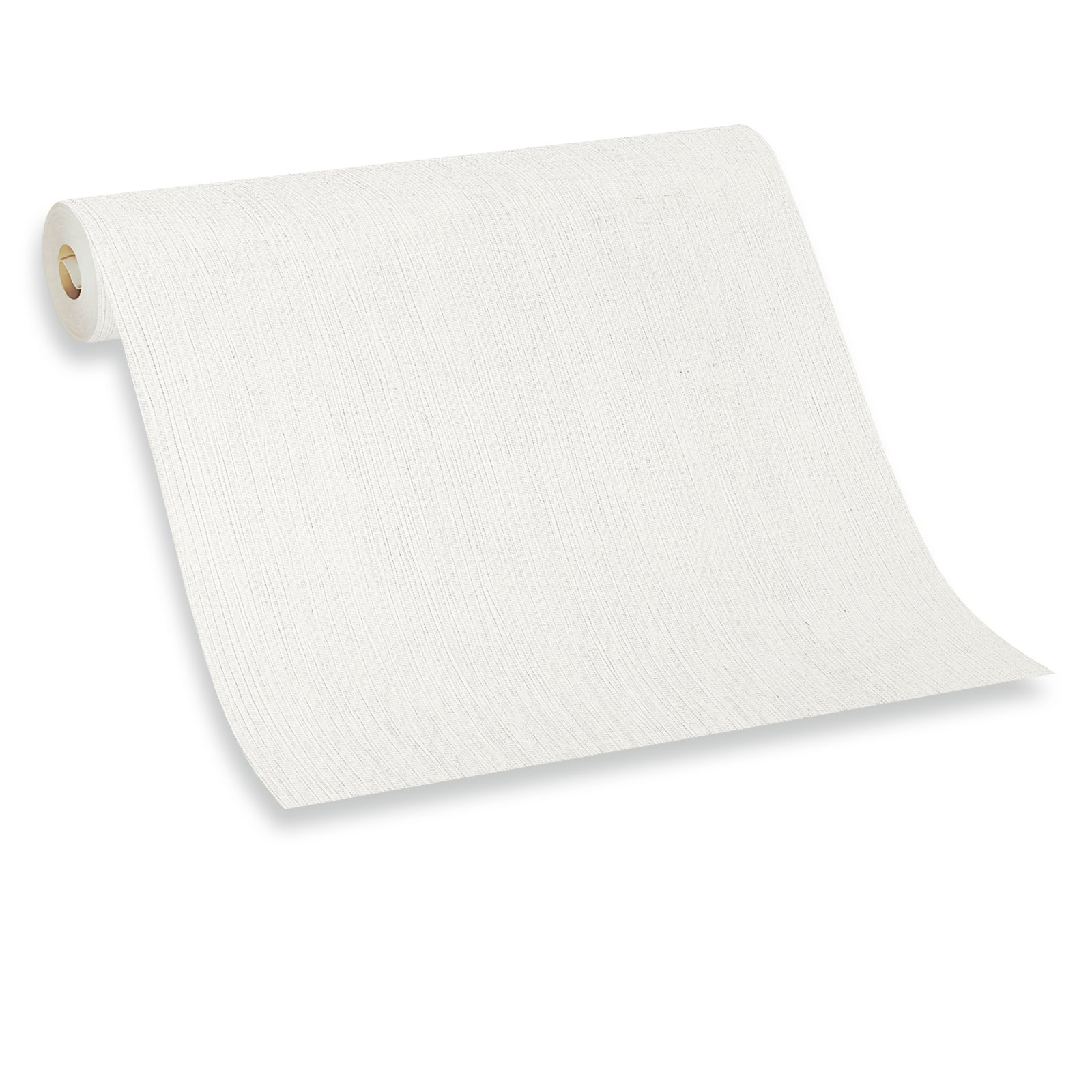 Papiertapete - weiß - 10 Meter