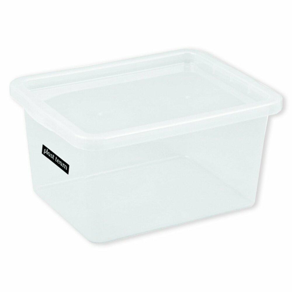aufbewahrungsbox transparent mit deckel 48 liter. Black Bedroom Furniture Sets. Home Design Ideas