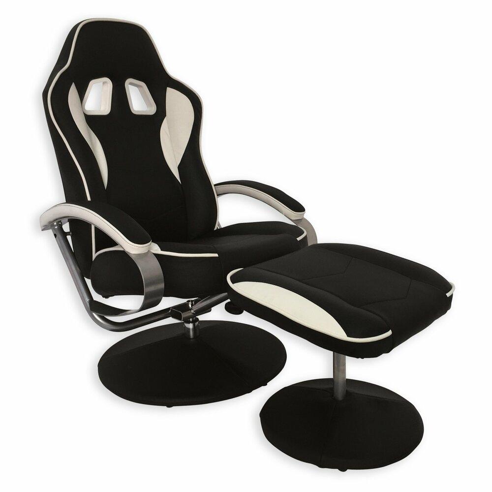 Relaxsessel miribo schwarz wei verstellbar for Relaxsessel schwarz