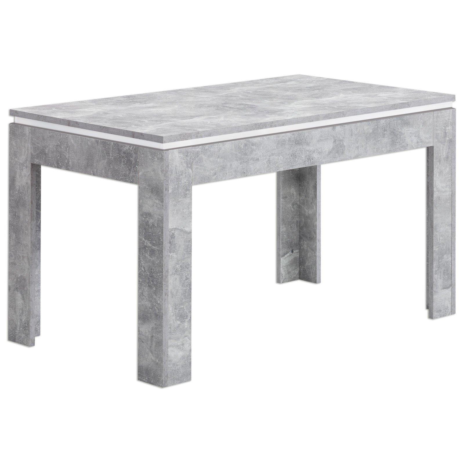 Esstisch STONE - Beton-weiß - ausziehbar | Esstische | Sitzen ...