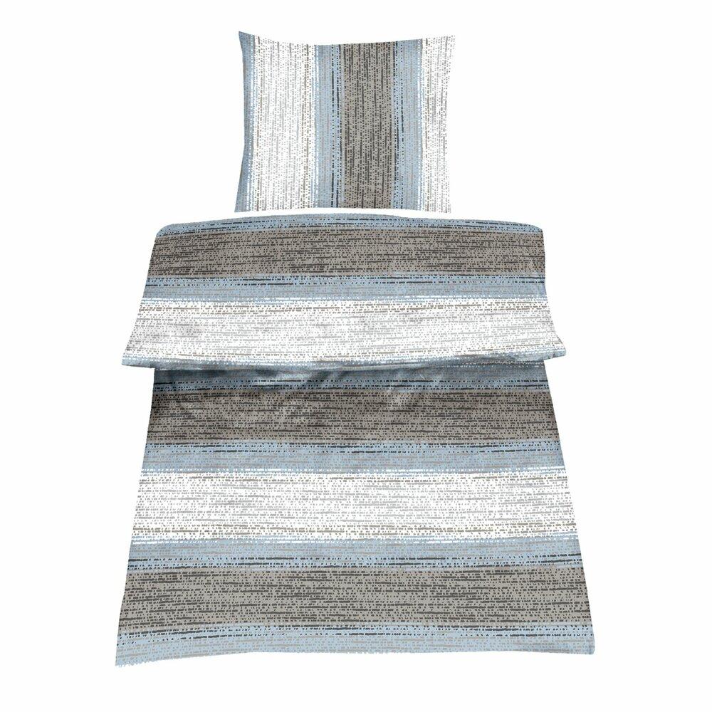 renforce bettw sche juno wei blau braun 200x200 cm bettw sche bettlaken heimtextilien. Black Bedroom Furniture Sets. Home Design Ideas