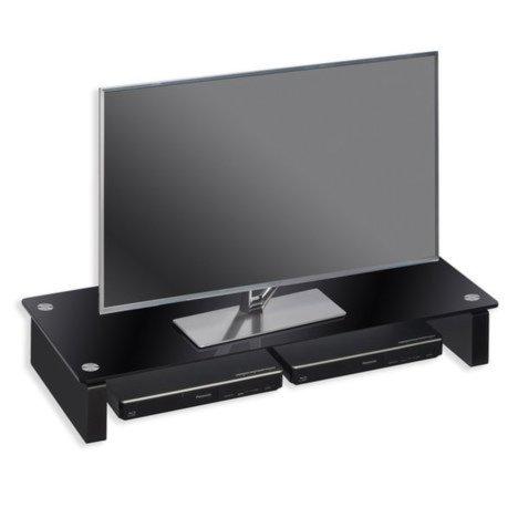 tv board schwarz glas 82x12 cm beleuchtung zubeh r wohnw nde m bel m belhaus roller. Black Bedroom Furniture Sets. Home Design Ideas