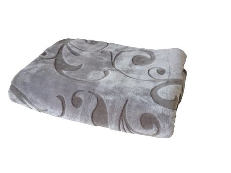 Wohndecke CASHMERE ORNAMENT - taupe - 150x200 cm