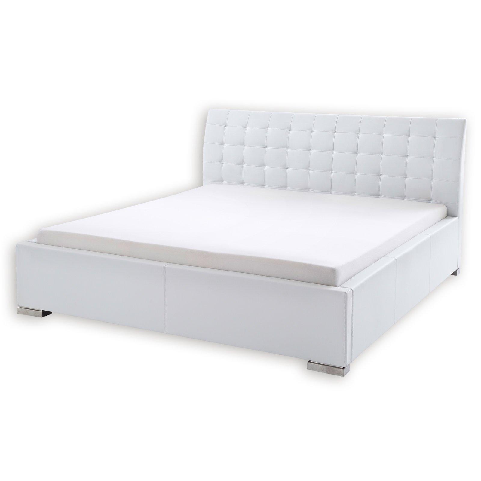 polsterbett isa comfort wei kunstleder 200x200 cm. Black Bedroom Furniture Sets. Home Design Ideas