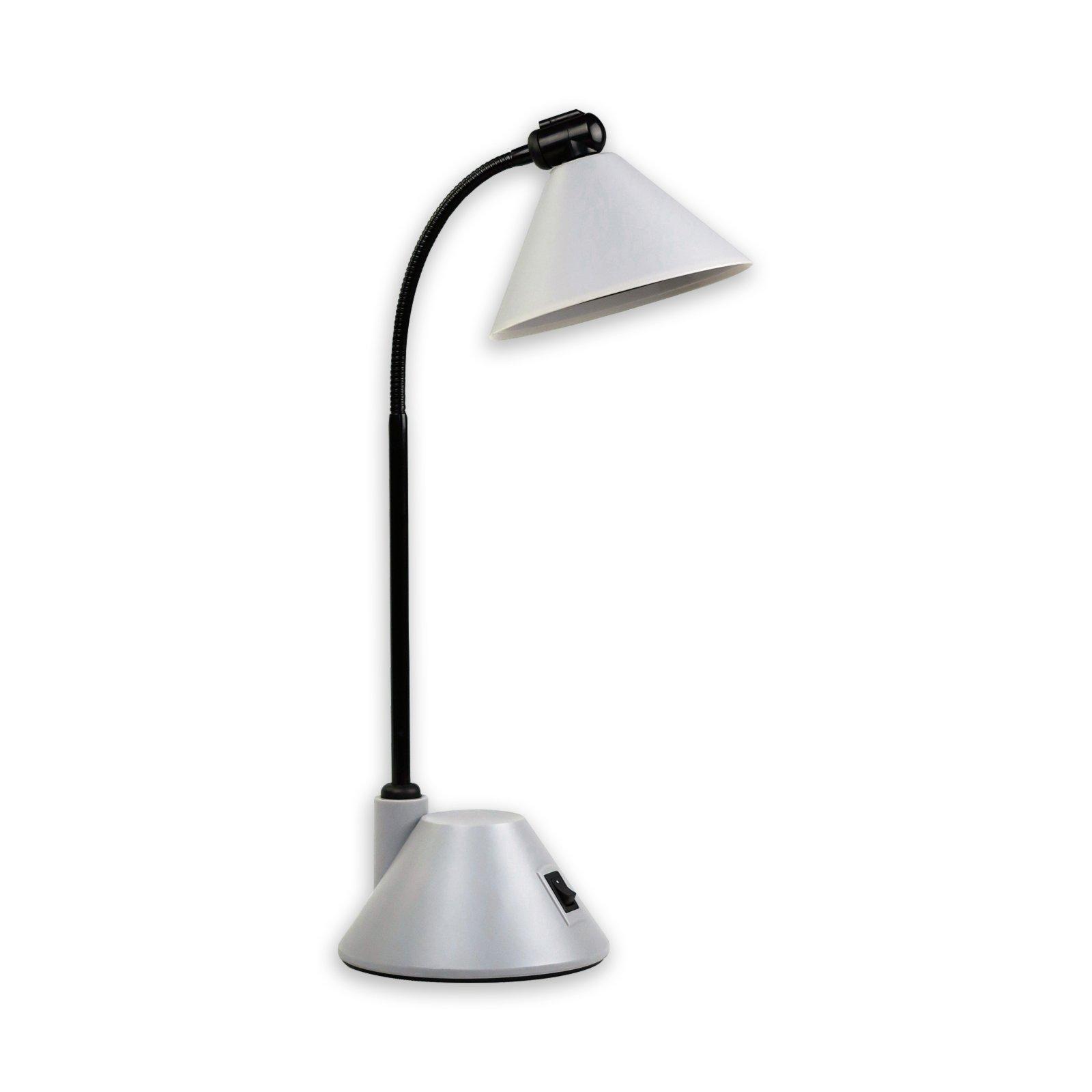CleverPick LED-Schreibtischleuchte - grau - mit Flexarm