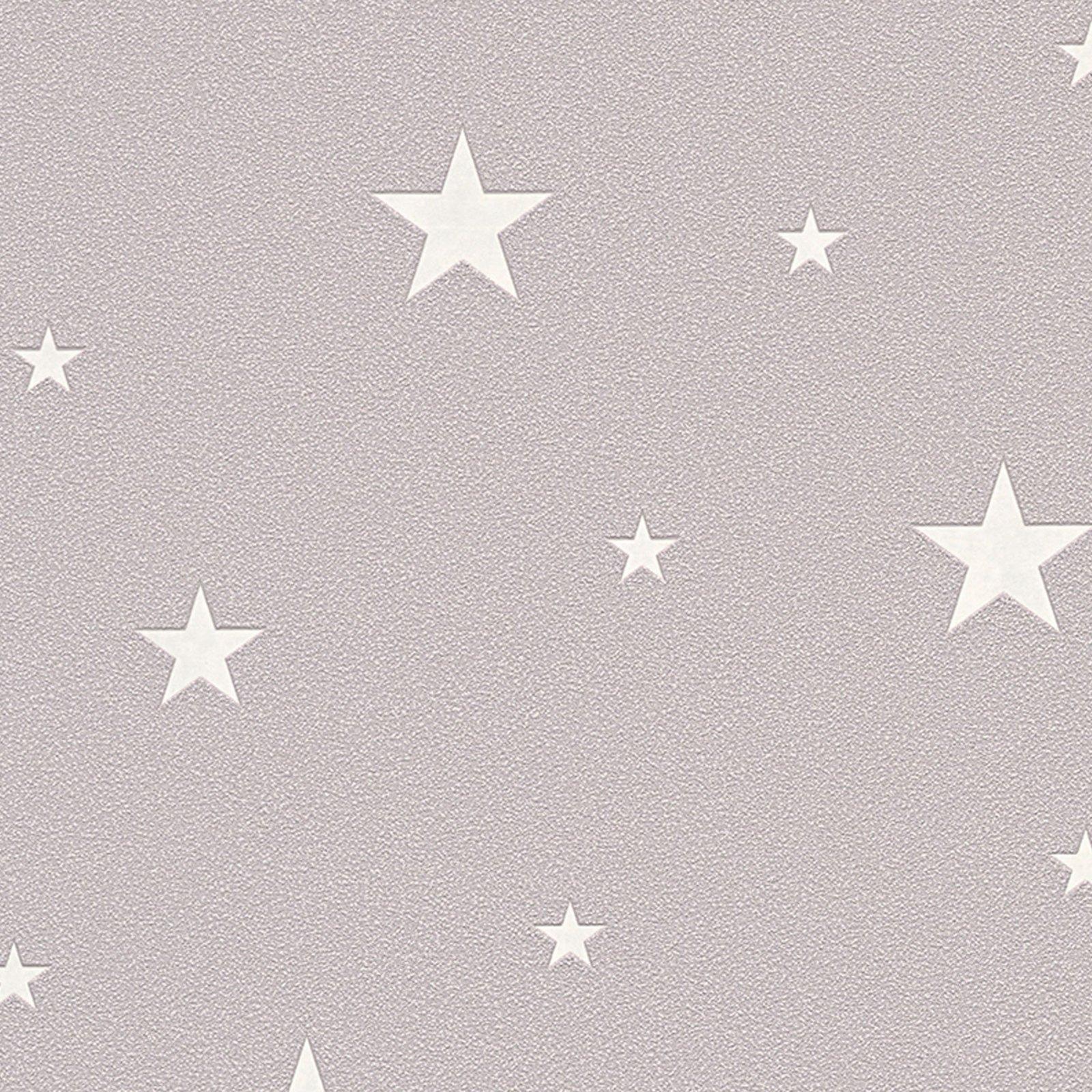 A.S. Creation Vliestapete DAY & NIGHT - beige - Leuchtsterne - 10 Meter