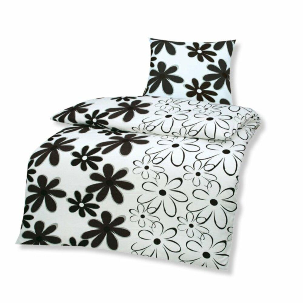 microfaser bettw sche high class schwarz wei 135x200 cm bettw sche bettw sche. Black Bedroom Furniture Sets. Home Design Ideas