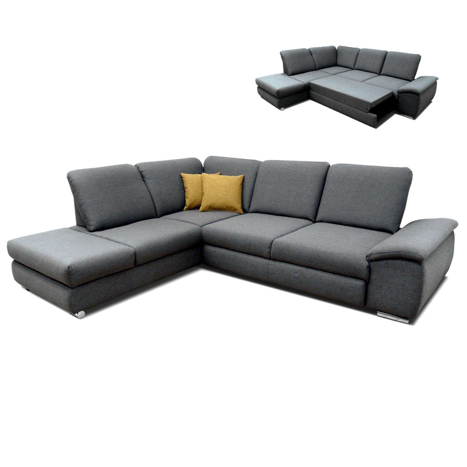polsterecke grau braun sitztiefenverstellung liegefunktion rechts ecksofas l form. Black Bedroom Furniture Sets. Home Design Ideas