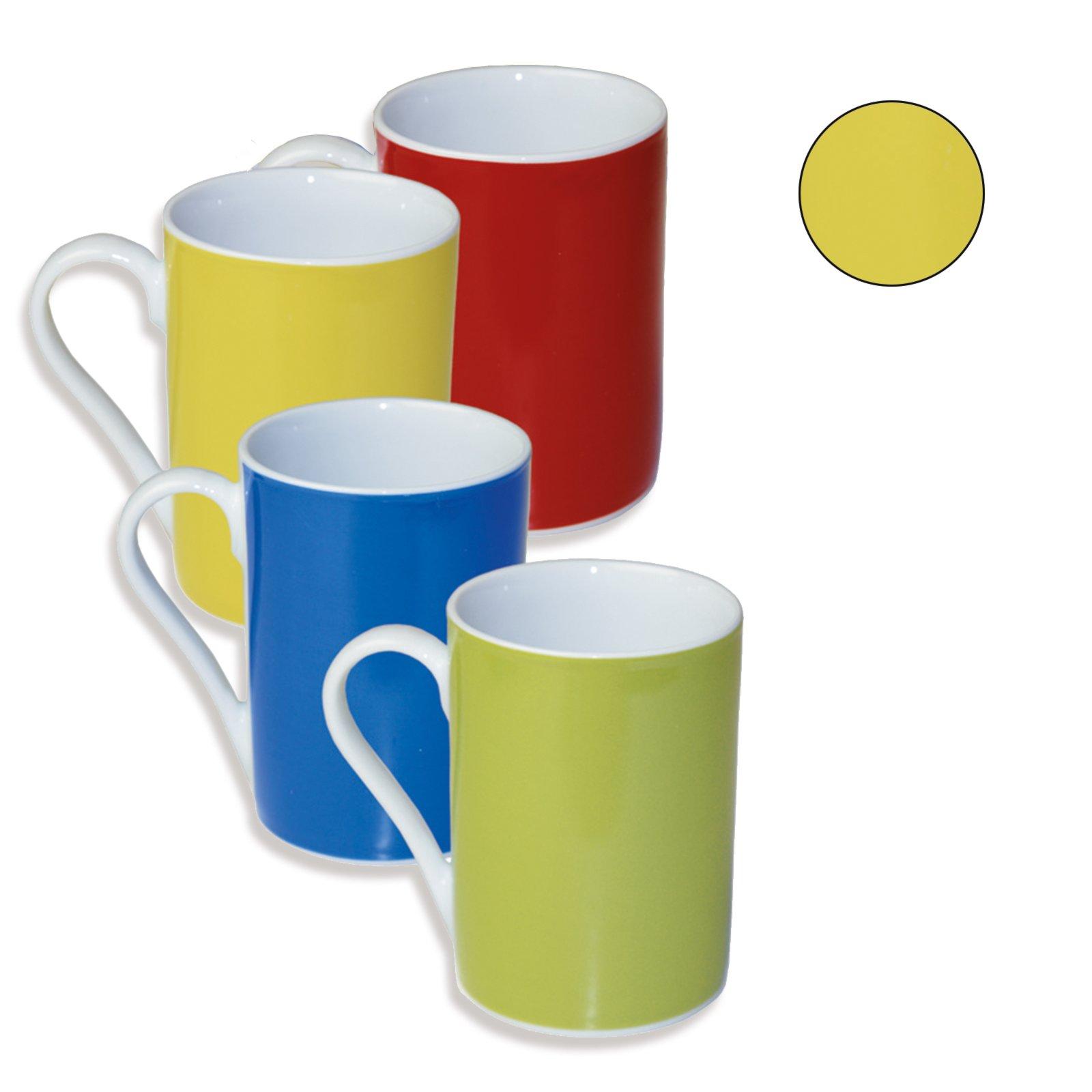 kaffeebecher allegra gelb porzellan geschirr haushalts k chenzubeh r deko. Black Bedroom Furniture Sets. Home Design Ideas