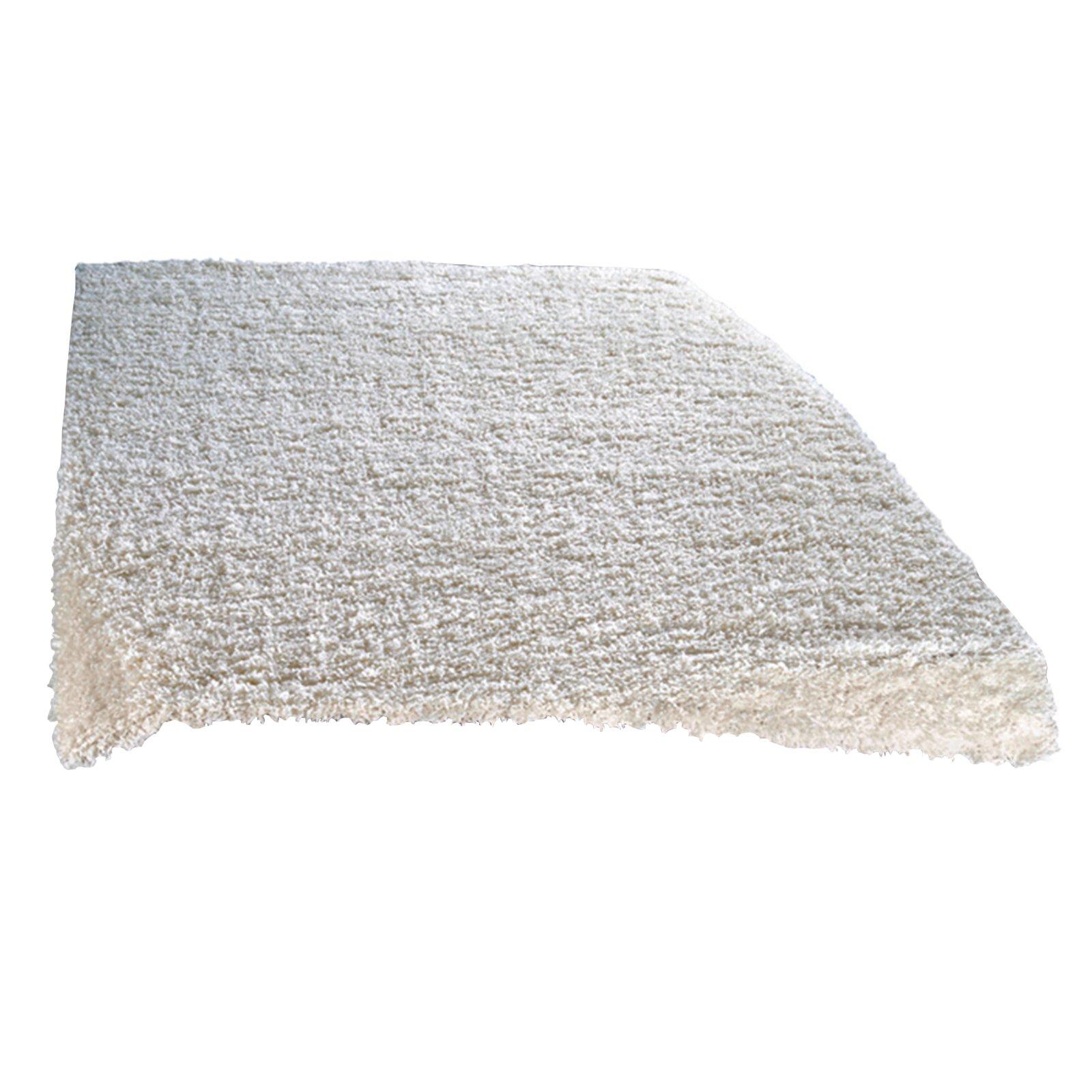 Hochflor-Teppich SHAGGY PLUS - weiß - 40x60 cm