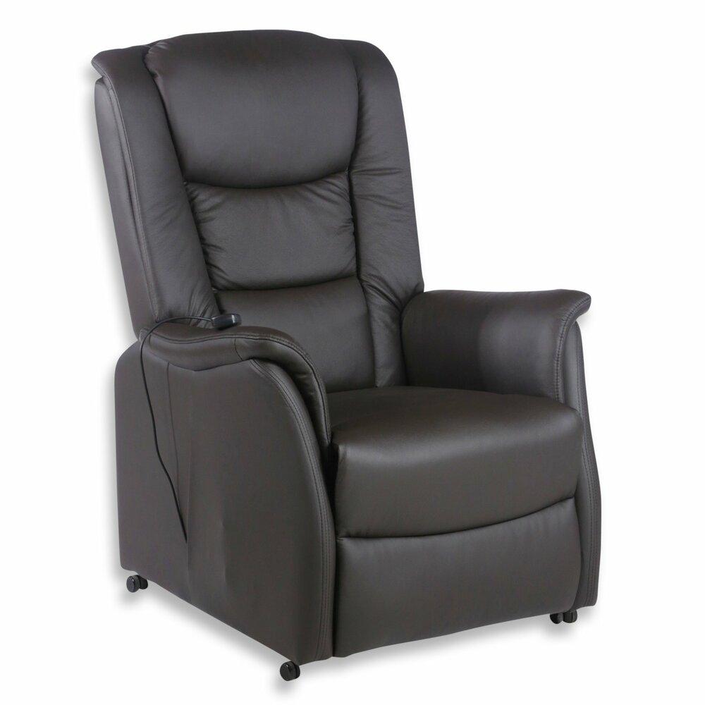 leder tv sessel braun mit aufstehhilfe fernseh relaxsessel sessel hocker m bel. Black Bedroom Furniture Sets. Home Design Ideas